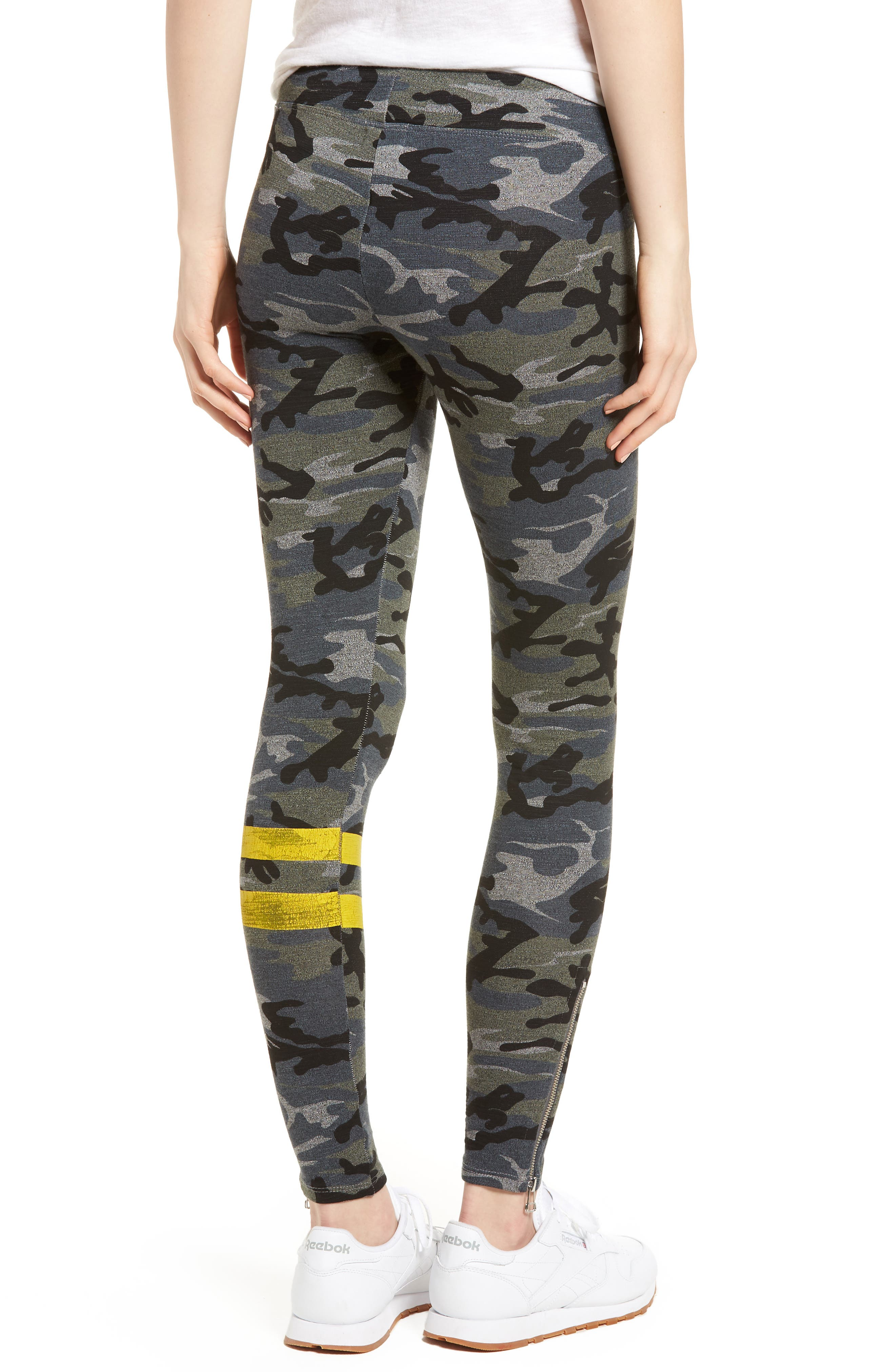 Stripe Camo Yoga Pants,                             Alternate thumbnail 2, color,                             020