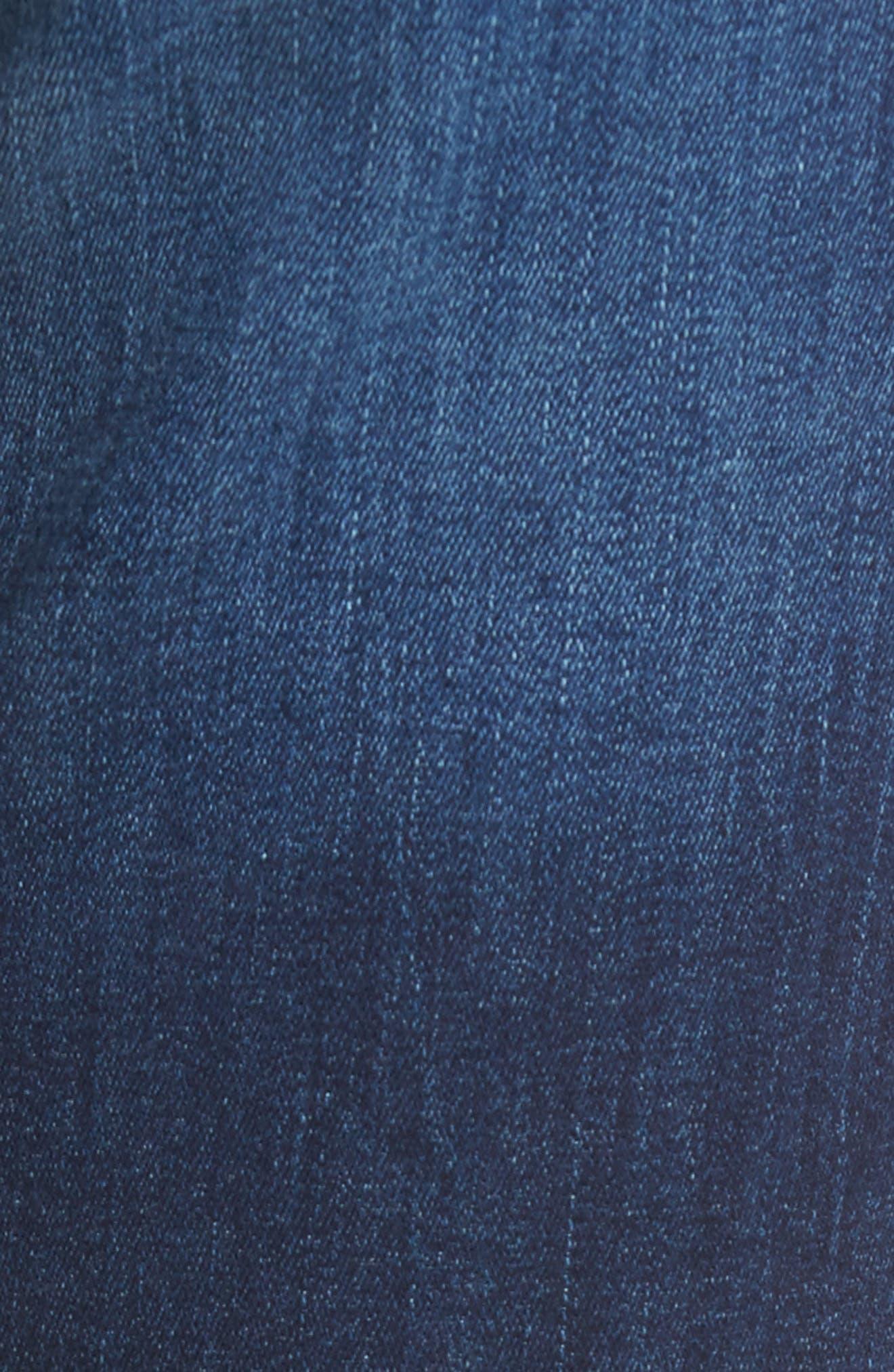Coco Curvy Slim Straight Leg Jeans,                             Alternate thumbnail 6, color,                             405