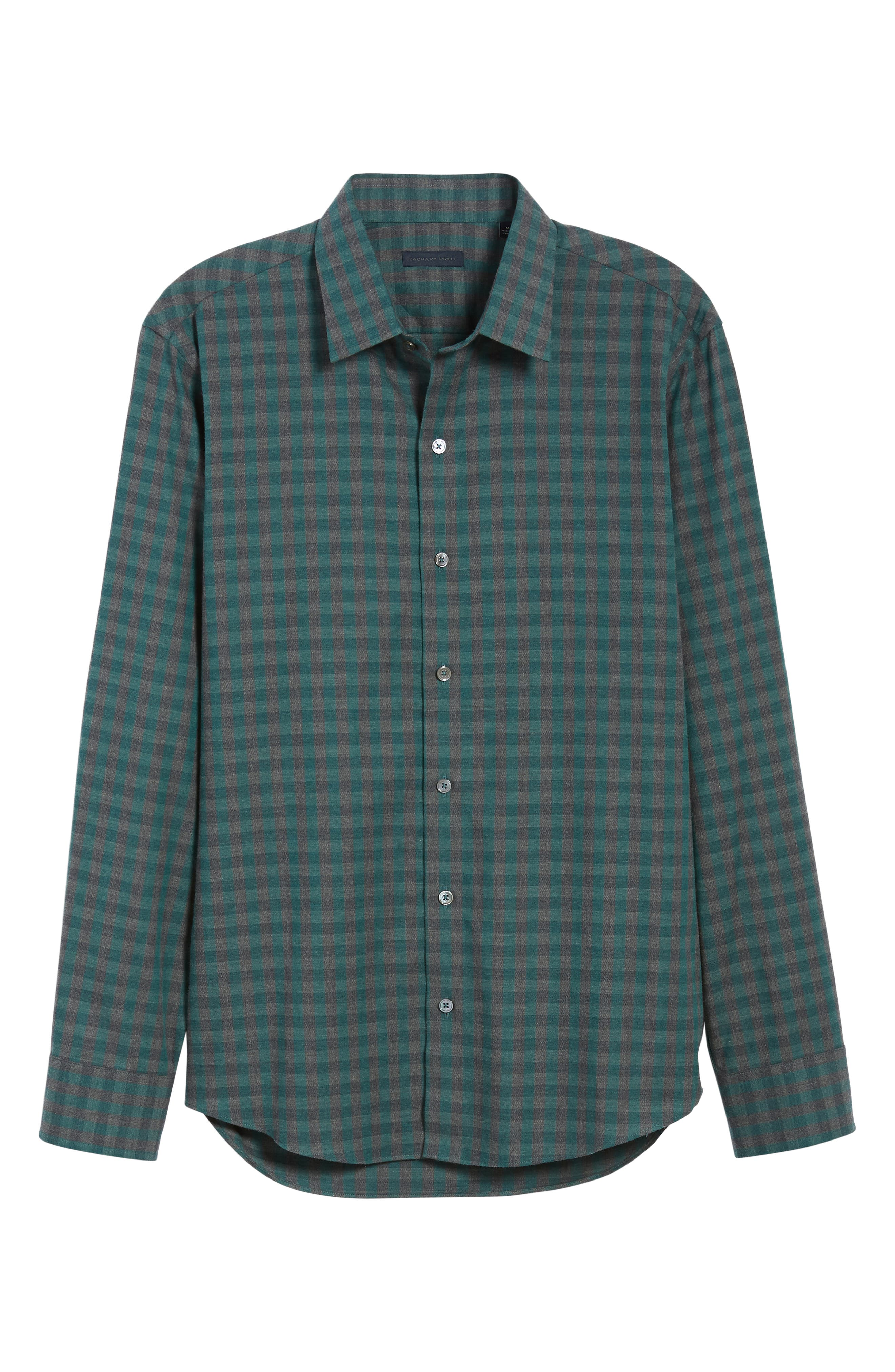 Lieberman Regular Fit Check Sport Shirt,                             Alternate thumbnail 5, color,                             NAVY