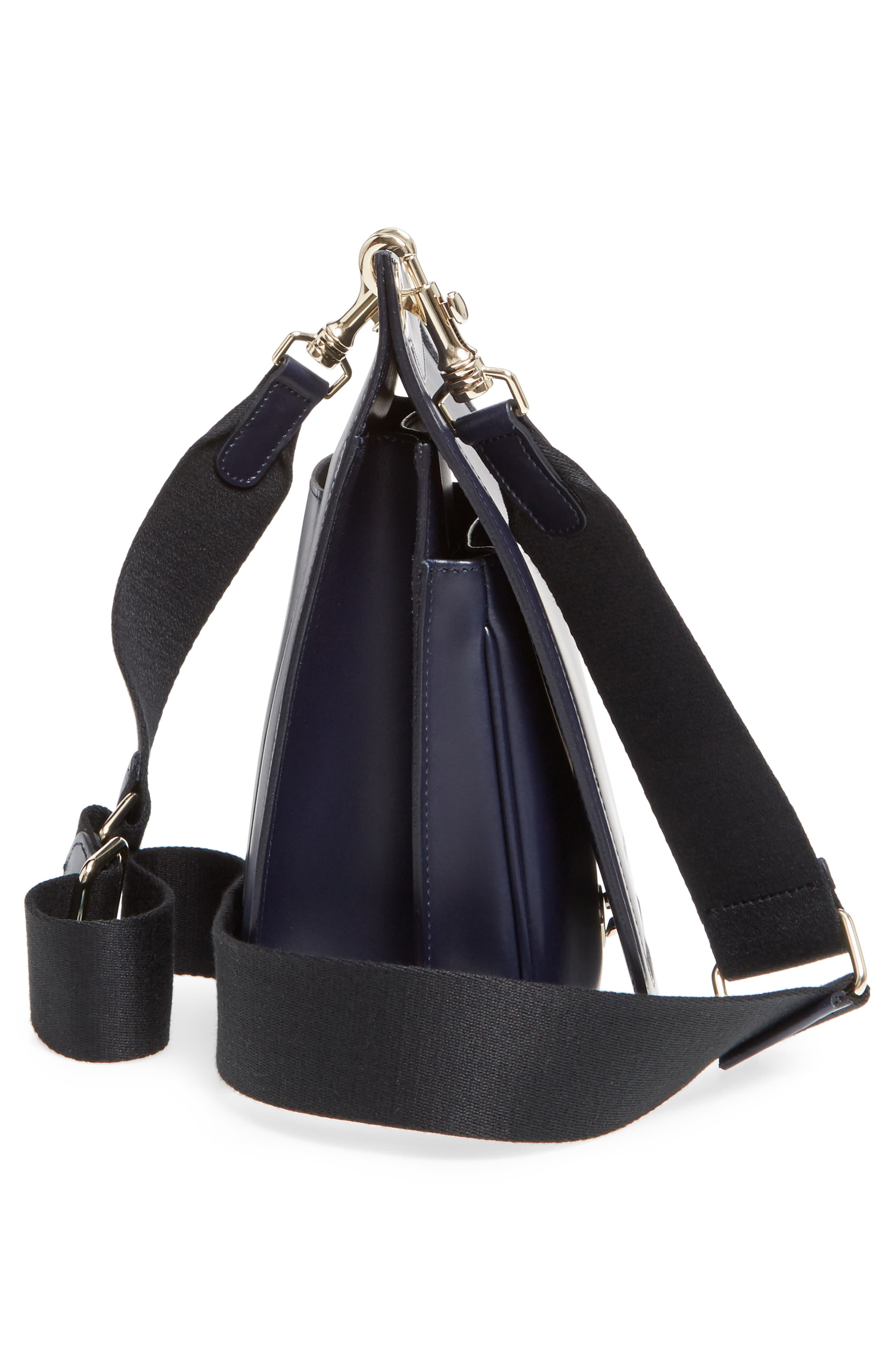Leather Equestrian Crossbody Bag,                             Alternate thumbnail 5, color,                             400