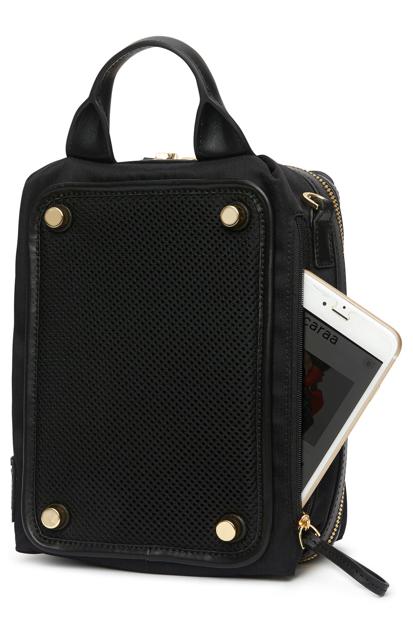 Studio 2 Mini Duffel Bag,                             Alternate thumbnail 5, color,                             BLACK GOLD