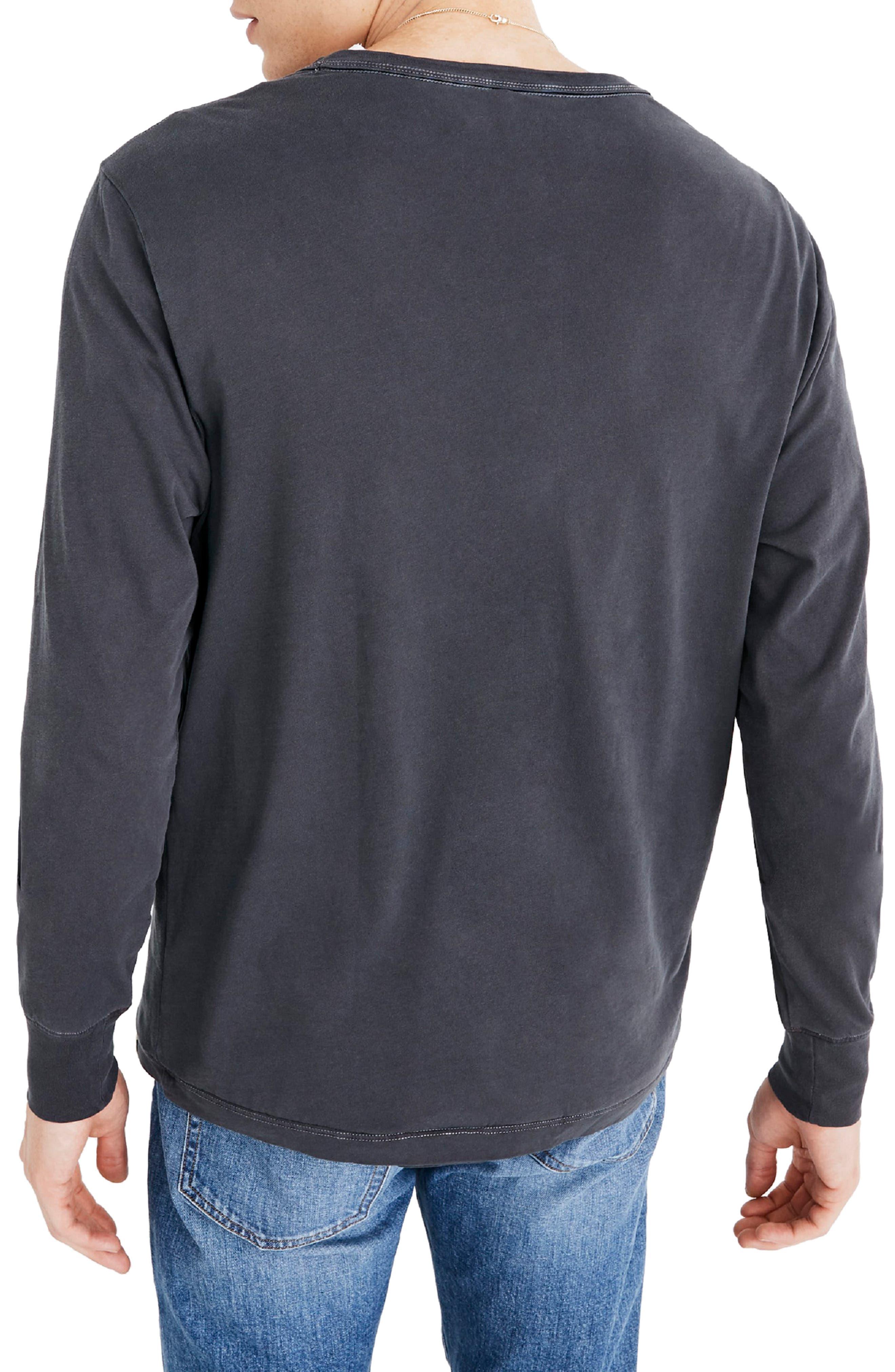 Long Sleeve Slim T-Shirt,                             Alternate thumbnail 3, color,                             CLASSIC BLACK