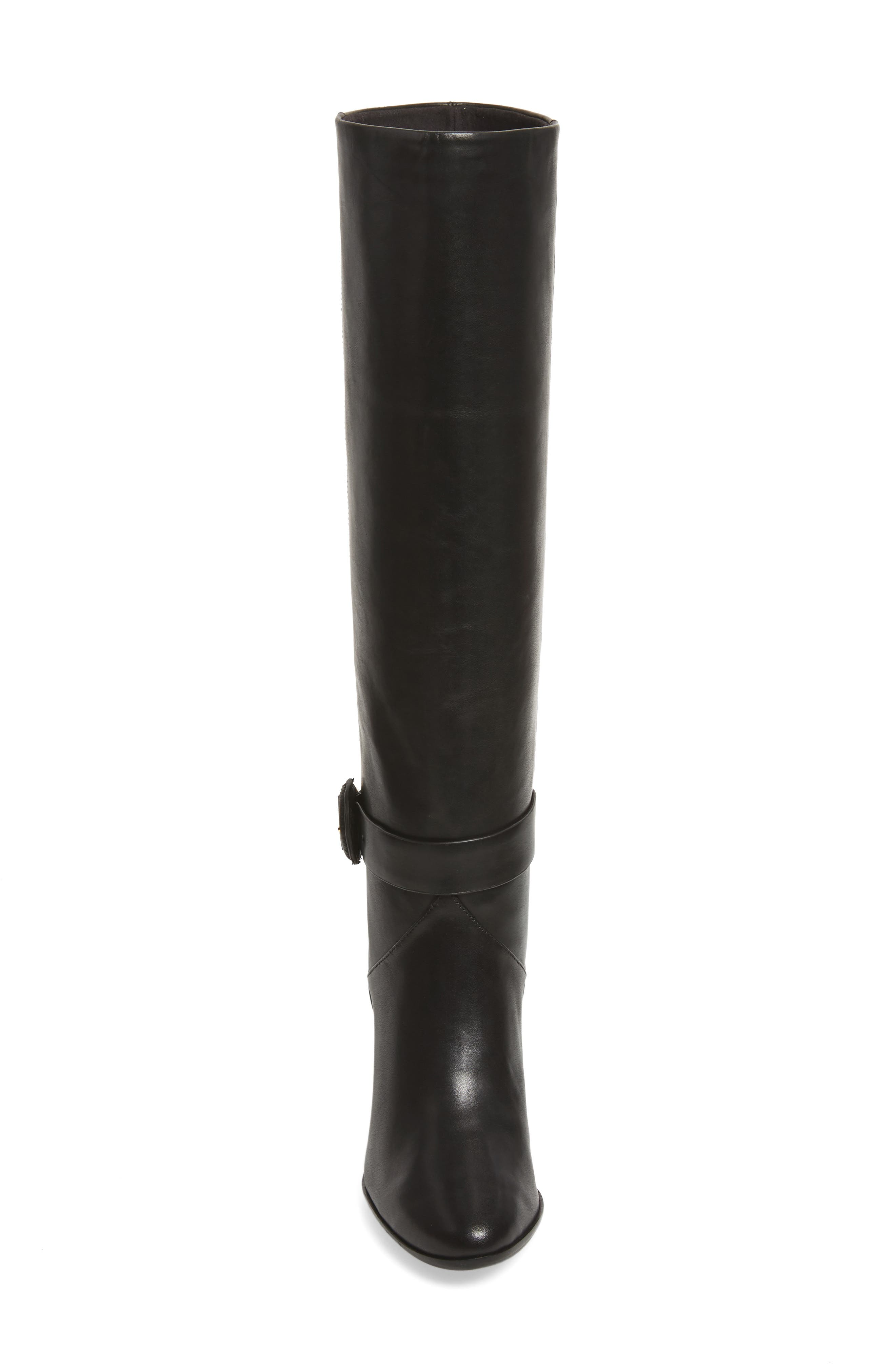 Alrami Knee High Boot,                             Alternate thumbnail 4, color,                             001