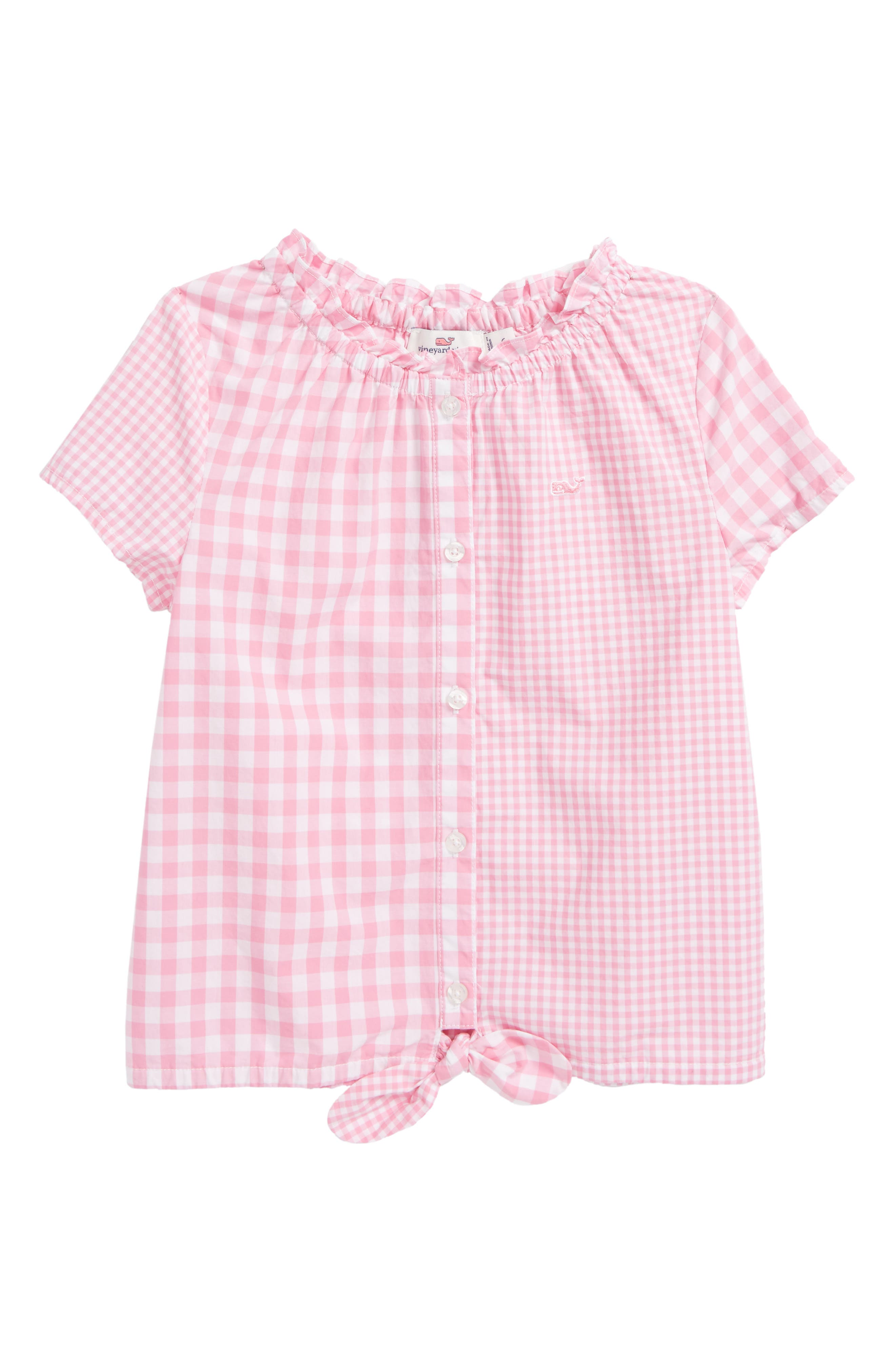 Gingham Top,                             Main thumbnail 1, color,                             654