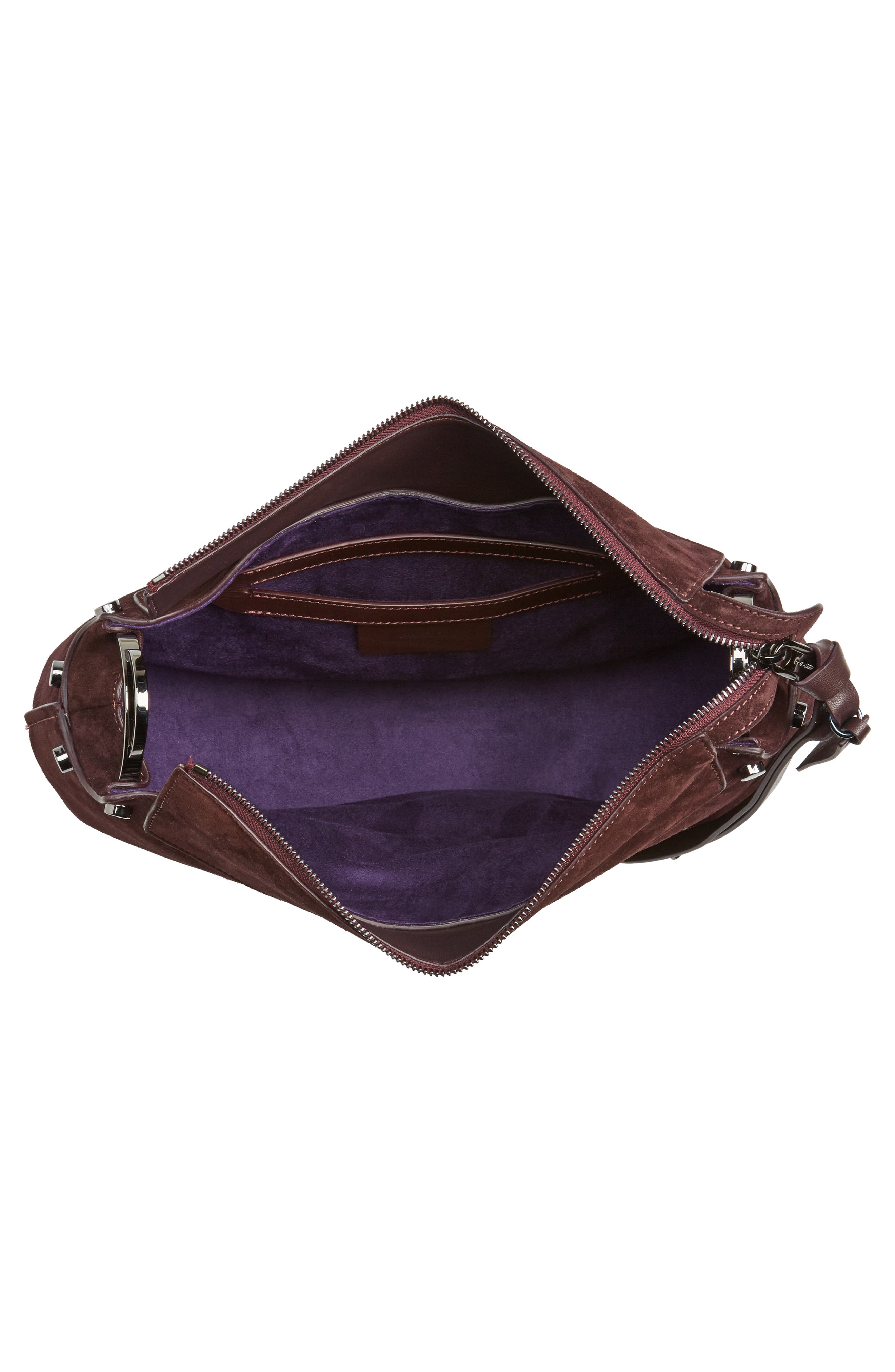 Artie Suede Hobo Bag,                             Alternate thumbnail 14, color,