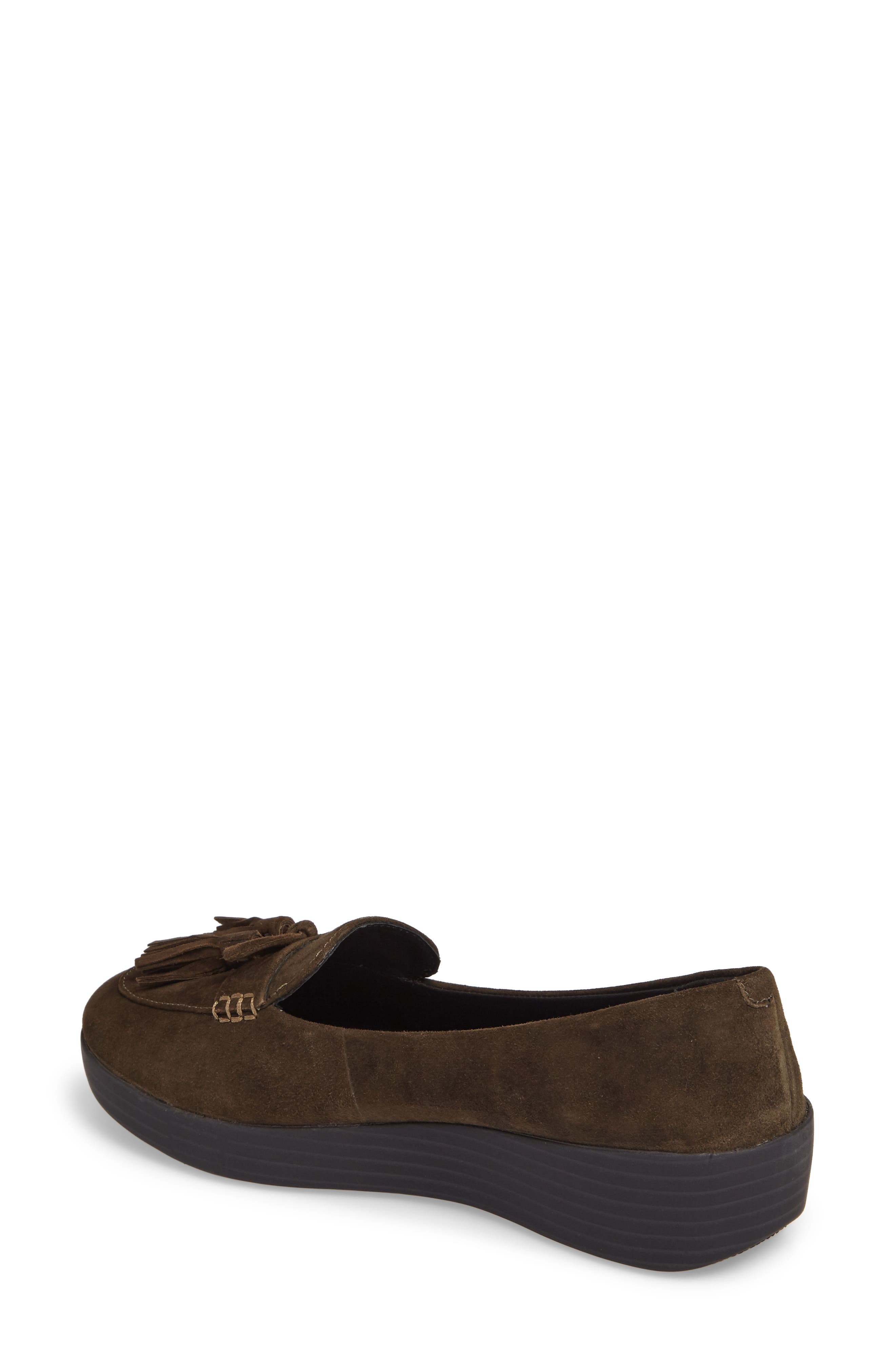 Tassel Bow Sneakerloafer<sup>™</sup> Water Repellent Flat,                             Alternate thumbnail 6, color,