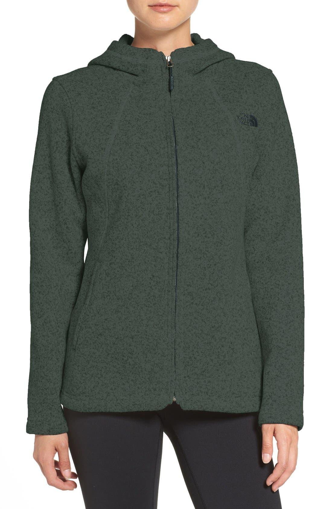 'Crescent' Fleece Jacket,                             Main thumbnail 6, color,