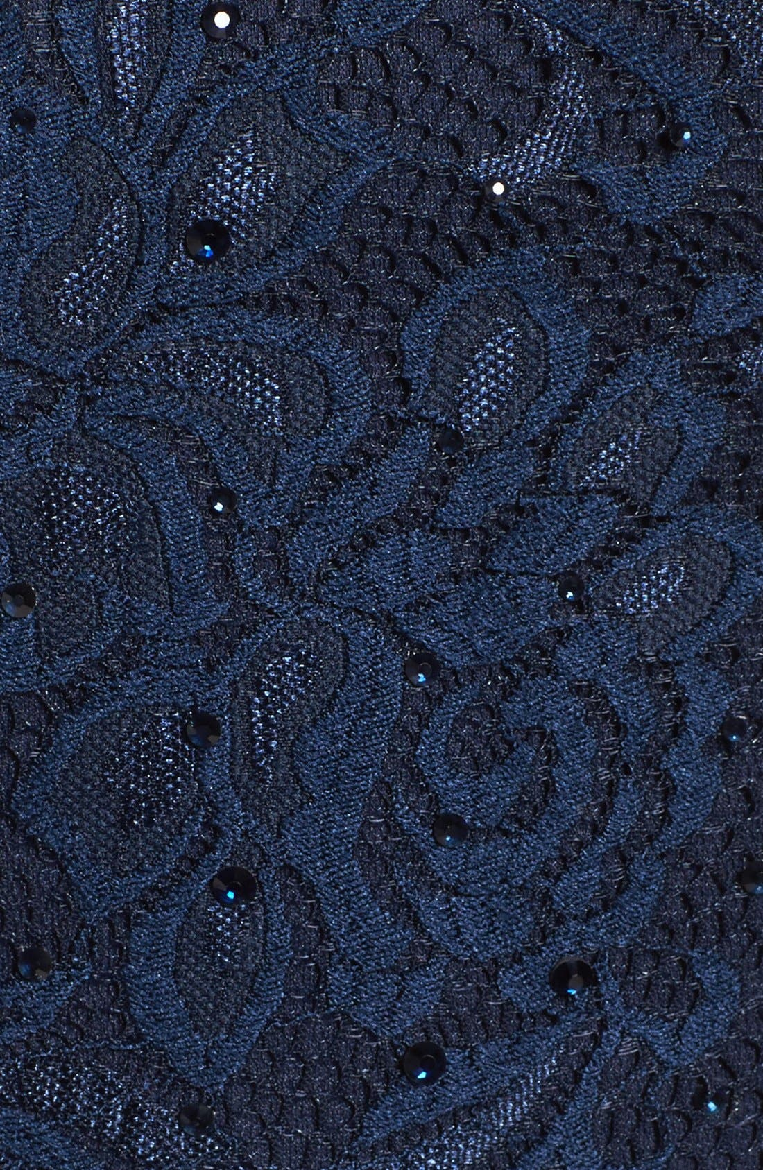 Embellished Lace Gown,                             Alternate thumbnail 7, color,                             NAVY