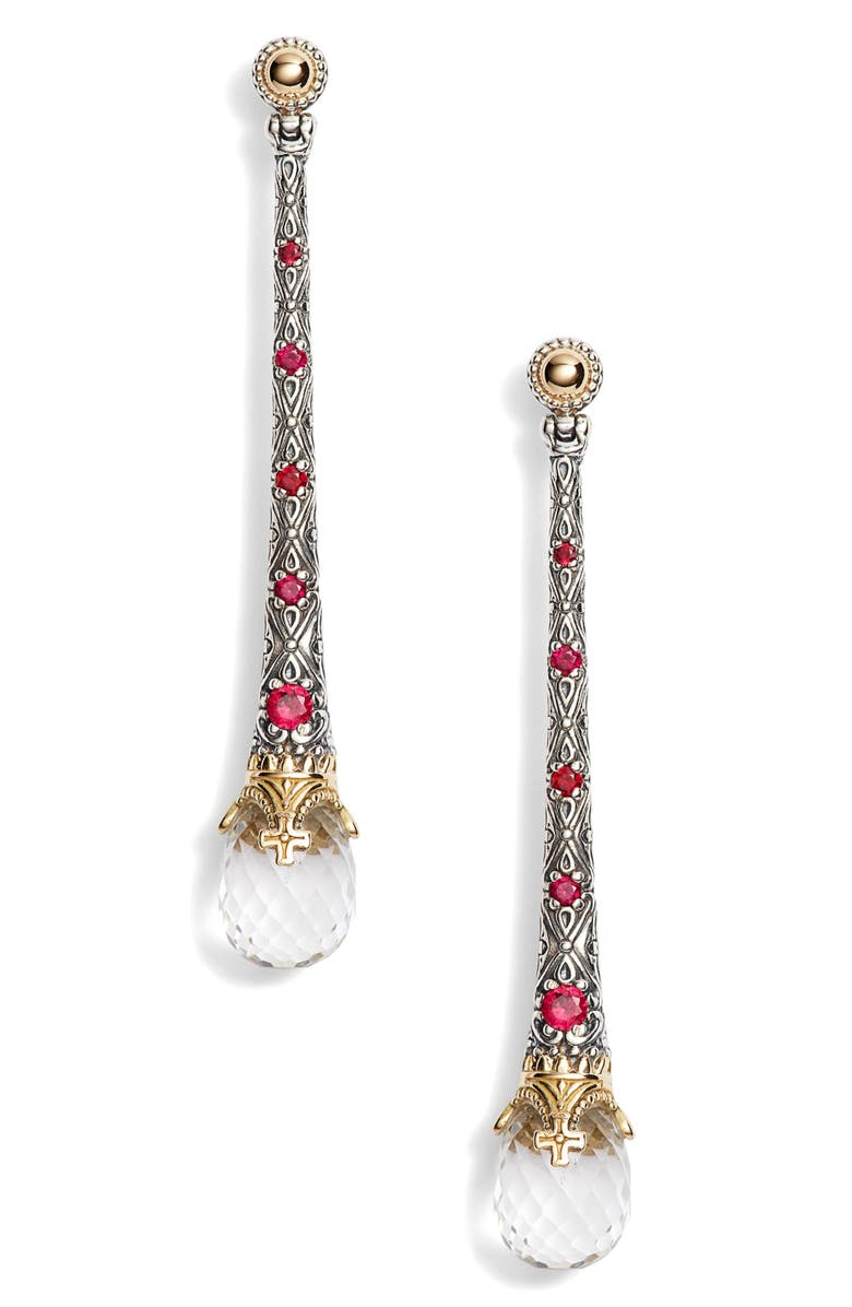 Konstantino PYTHIA LINEAR CRYSTAL EARRINGS