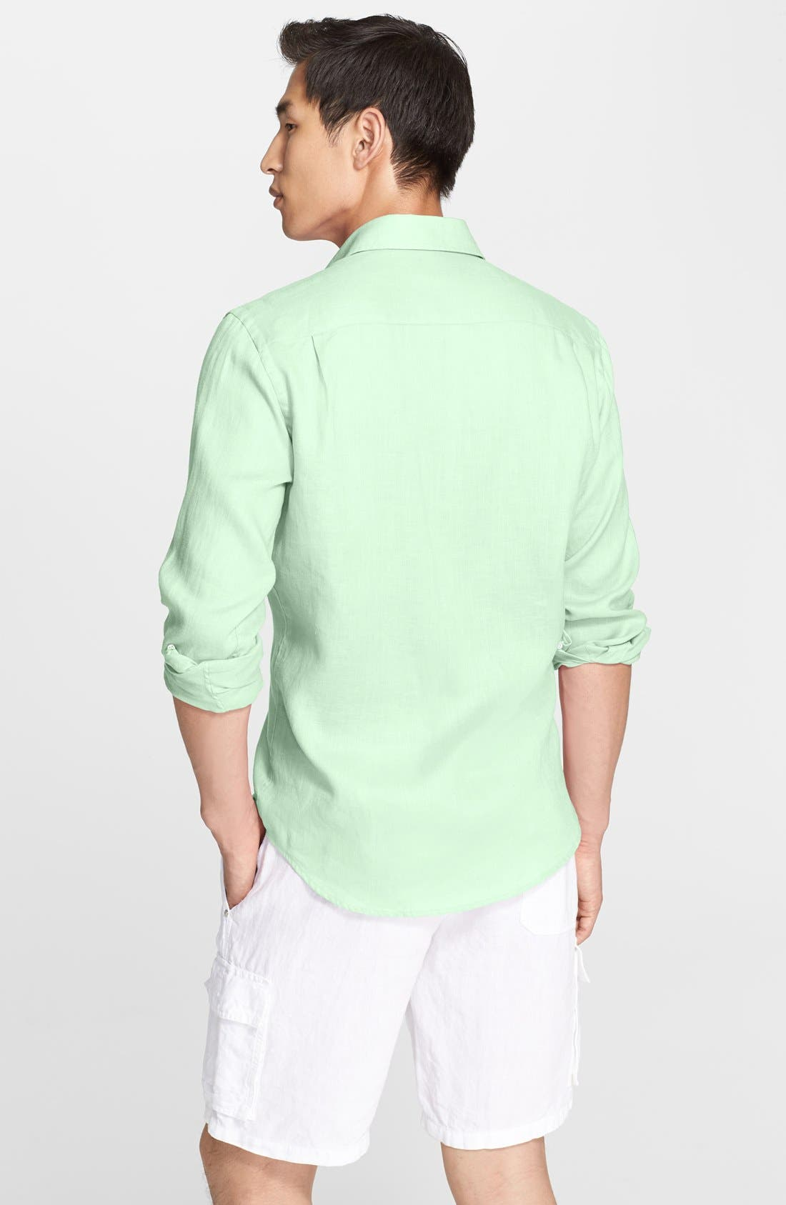 'Caroubier' Linen Shirt,                             Alternate thumbnail 21, color,