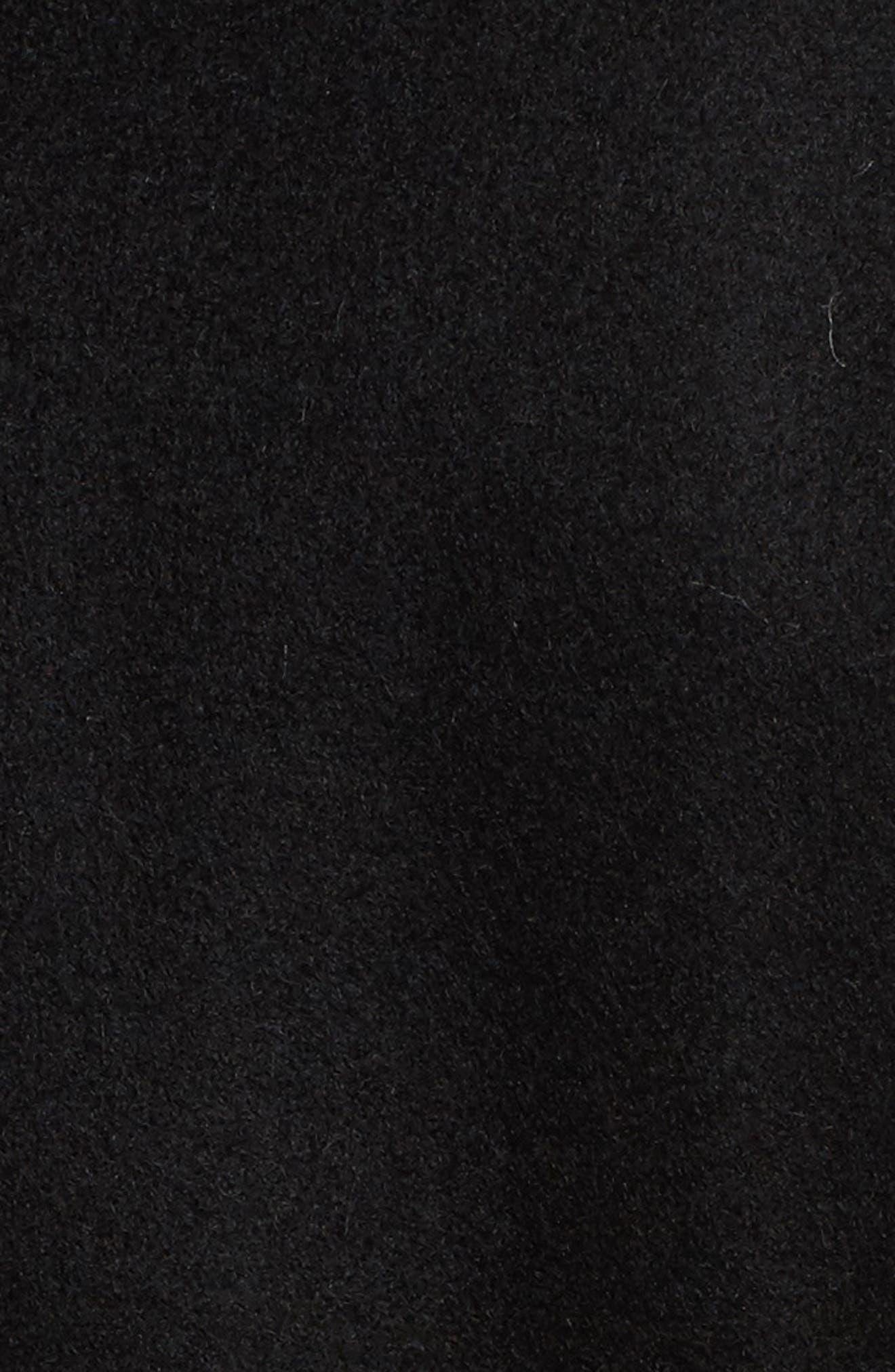 Faux Leather & Faux Fur Trim Belted Wool Blend Coat,                             Alternate thumbnail 42, color,
