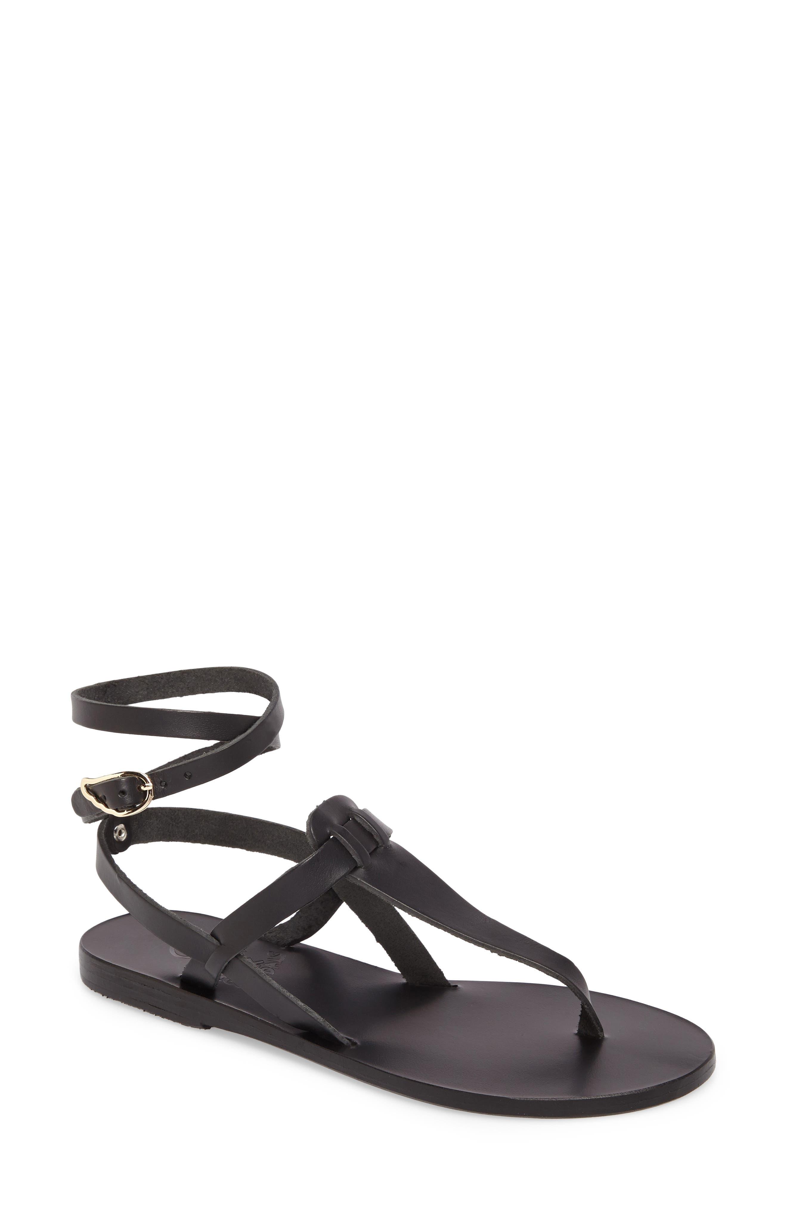 ANCIENT GREEK SANDALS Estia Ankle Wrap Sandal, Main, color, 001