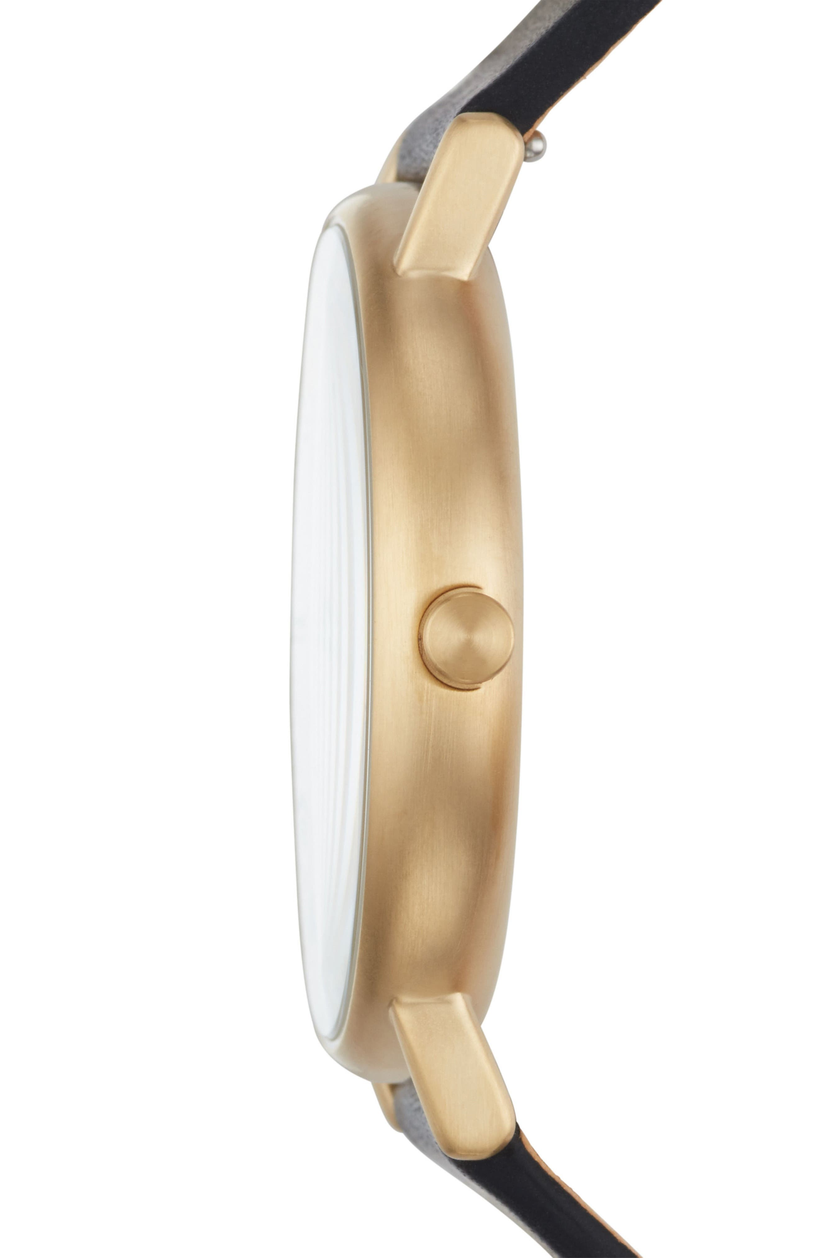 Signatur Slim Leather Strap Watch, 40mm,                             Alternate thumbnail 2, color,                             001