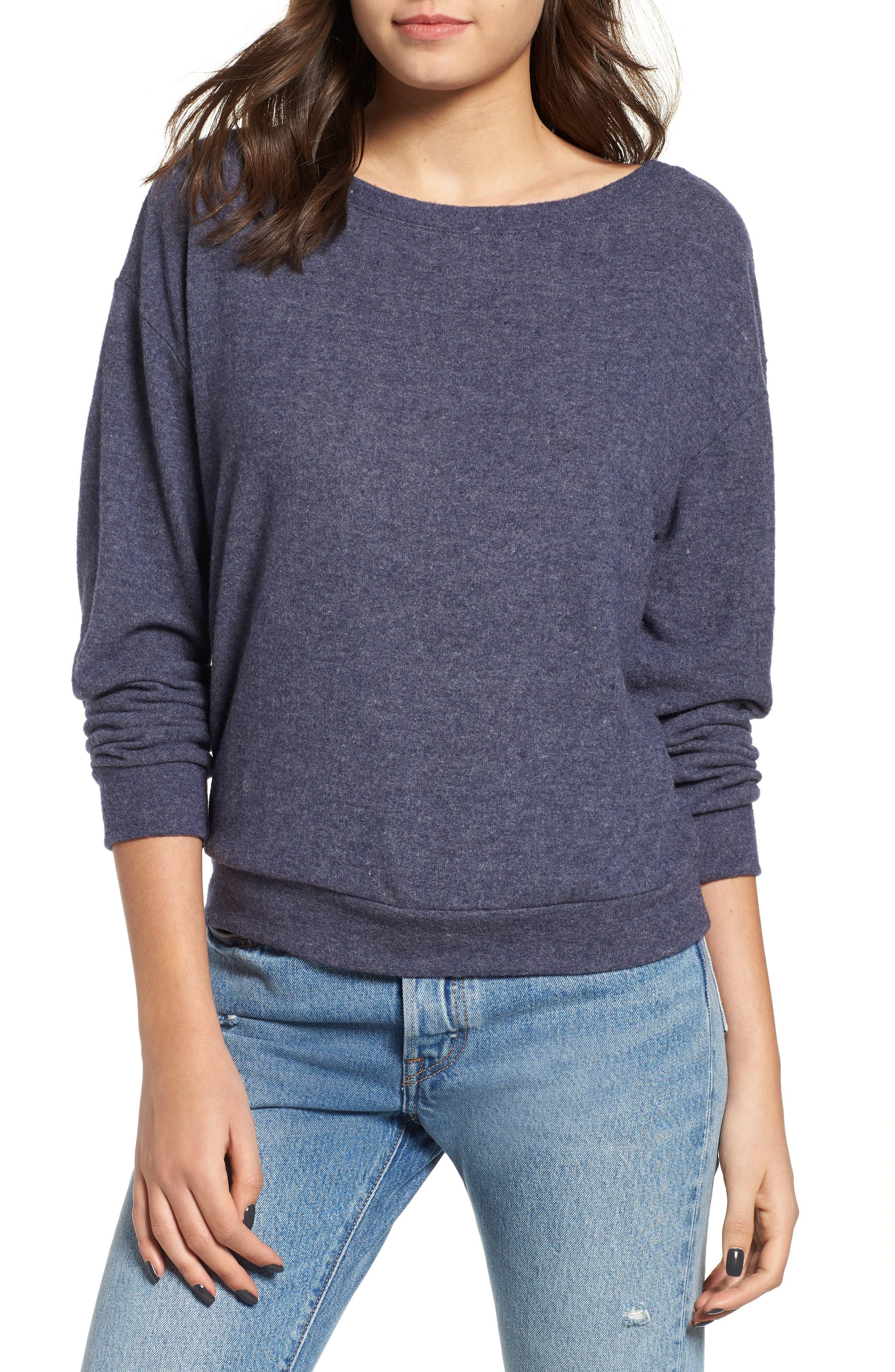 Keys Sweatshirt,                         Main,                         color, HEATHER NAVY