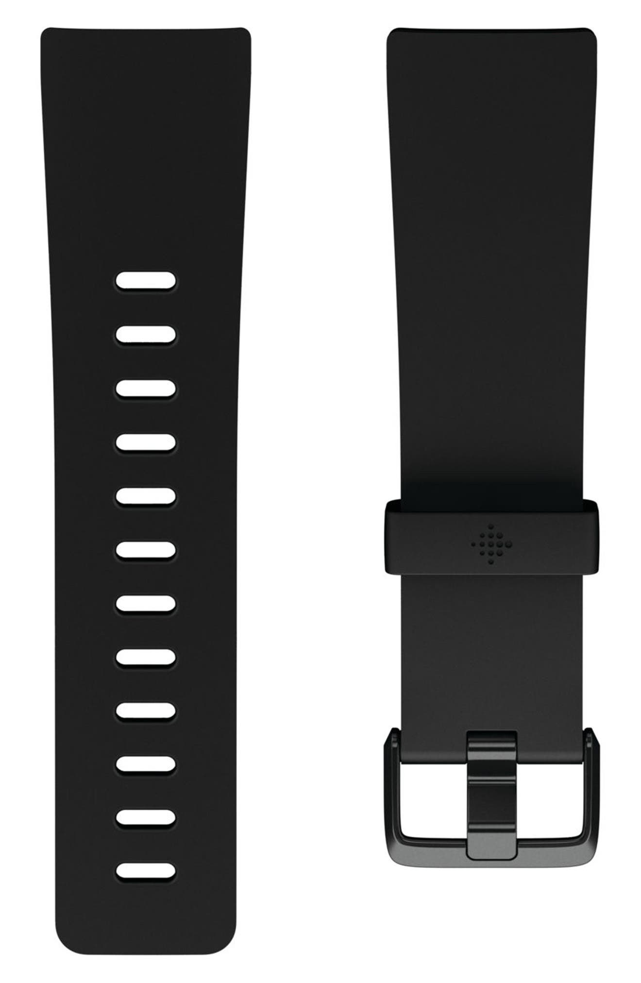 FITBIT Versa Accessory Watch Band, Main, color, 001