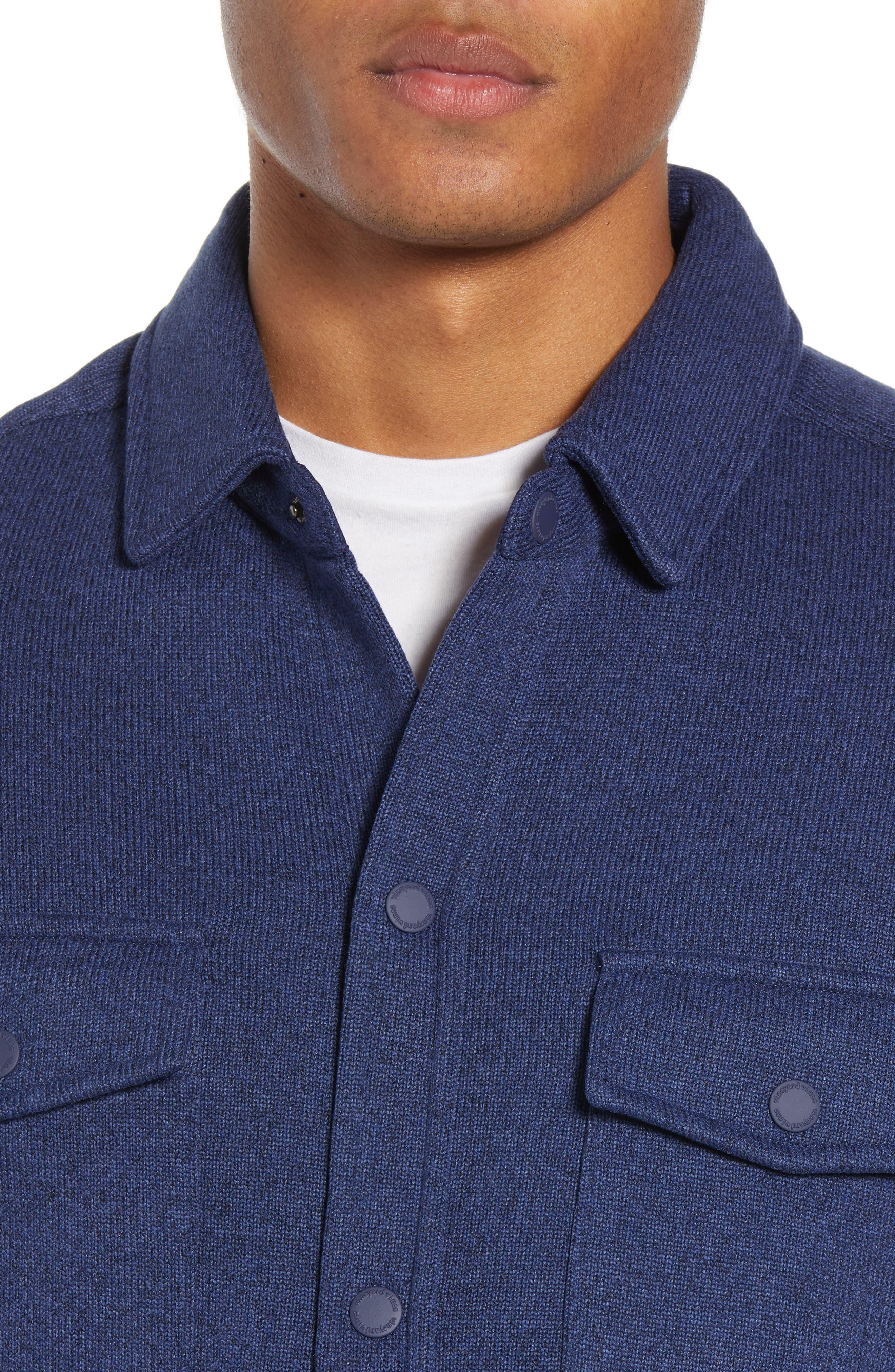 Knit Regular Fit Shirt Jacket,                             Alternate thumbnail 2, color,                             DEEP BAY