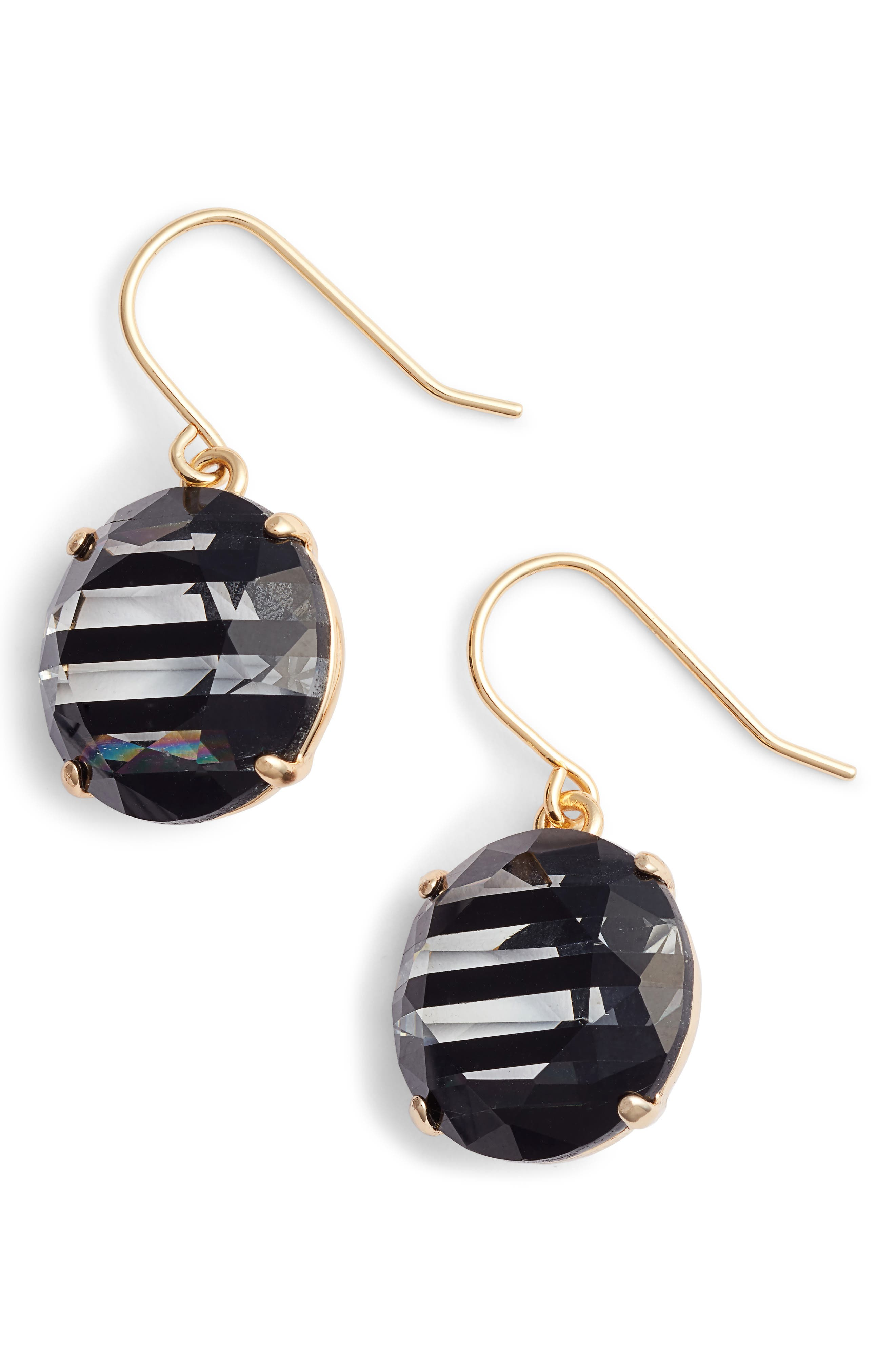 KATE SPADE NEW YORK,                             shine on stripe drop earrings,                             Main thumbnail 1, color,                             002