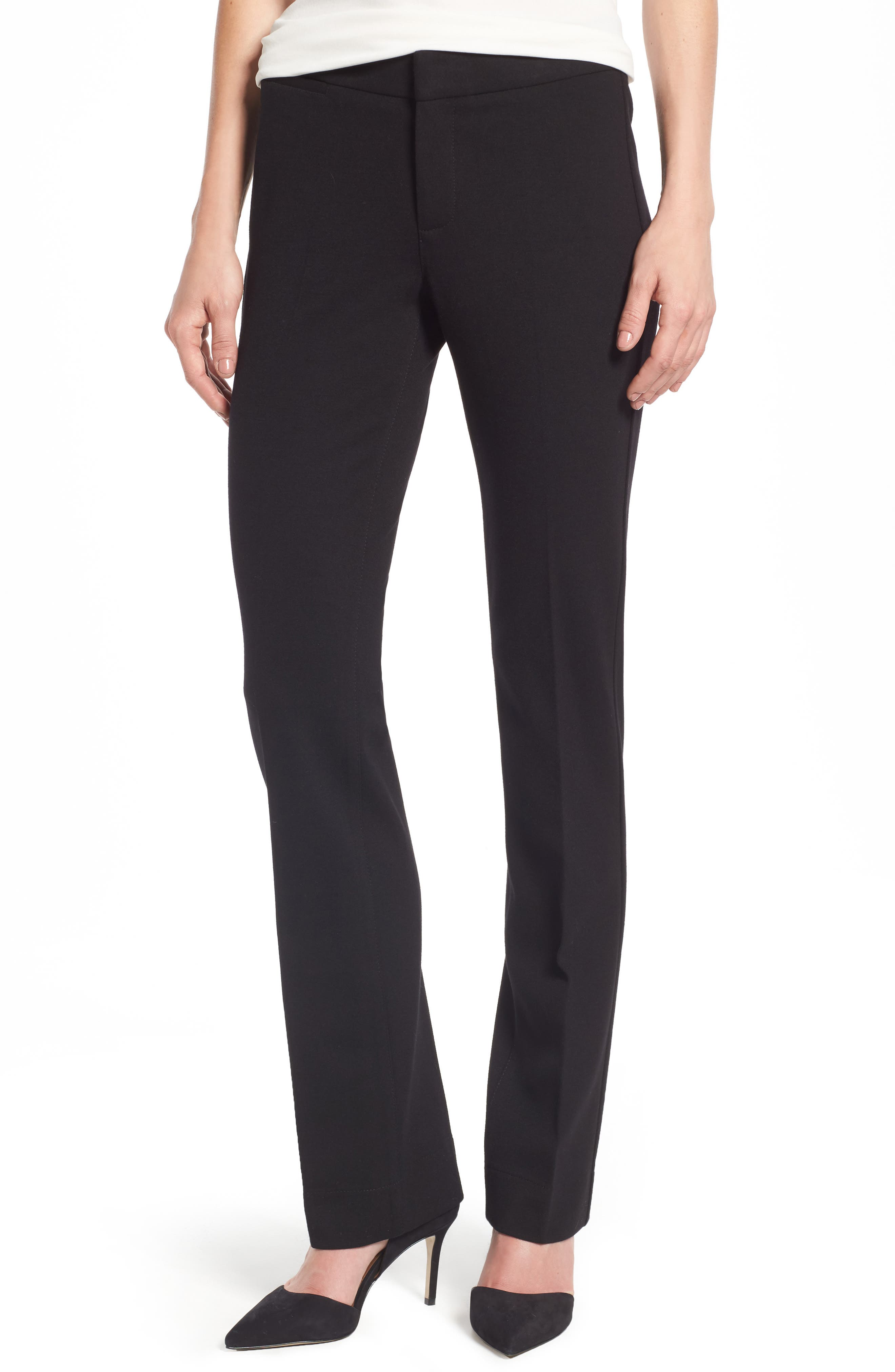 Stretch Knit Trousers, Main, color, BLACK