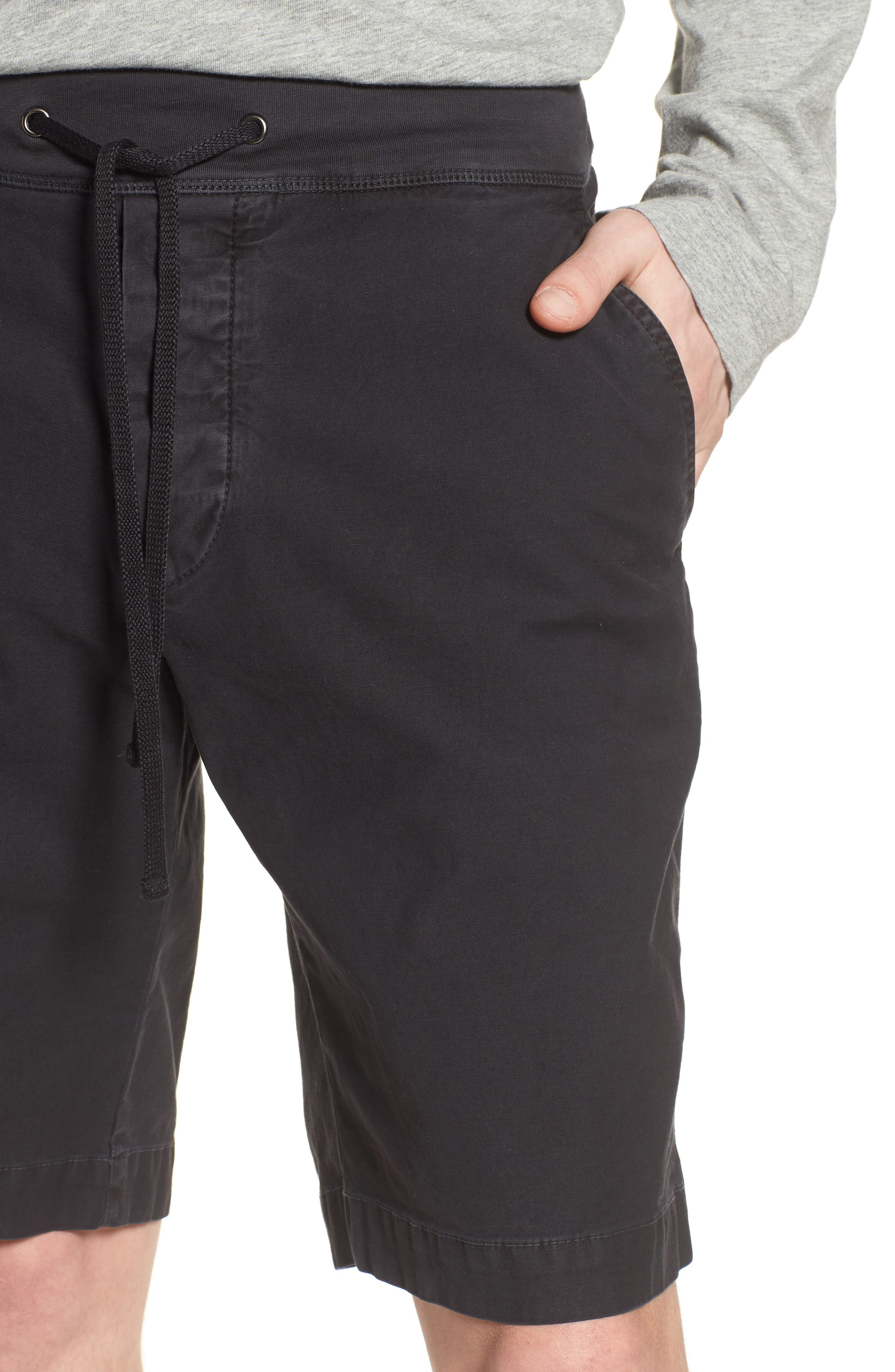 JAMES PERSE,                             Compact Stretch Cotton Shorts,                             Alternate thumbnail 4, color,                             020