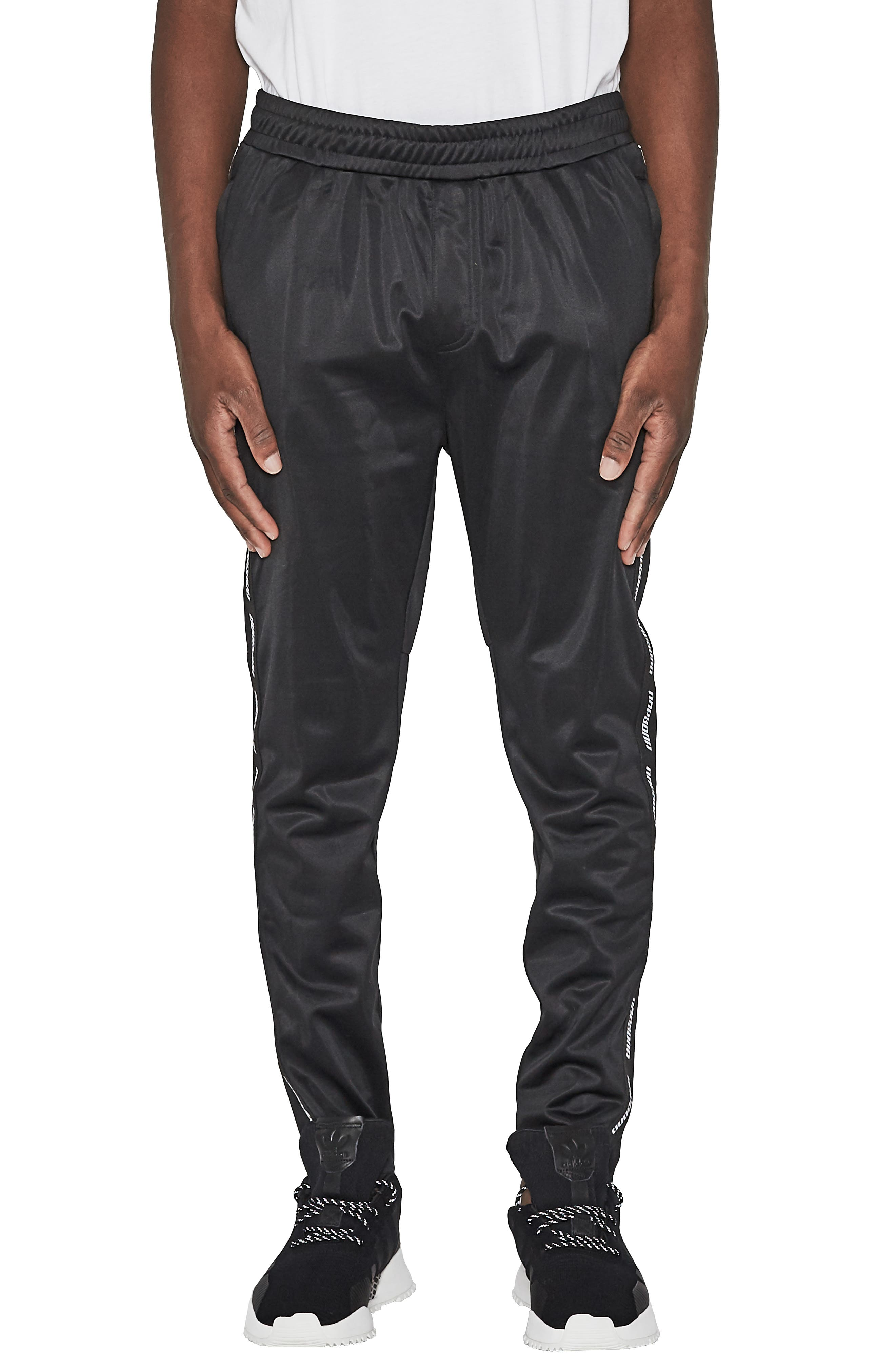 Legacy Slim Fit Track Pants,                             Main thumbnail 1, color,                             JET BLACK