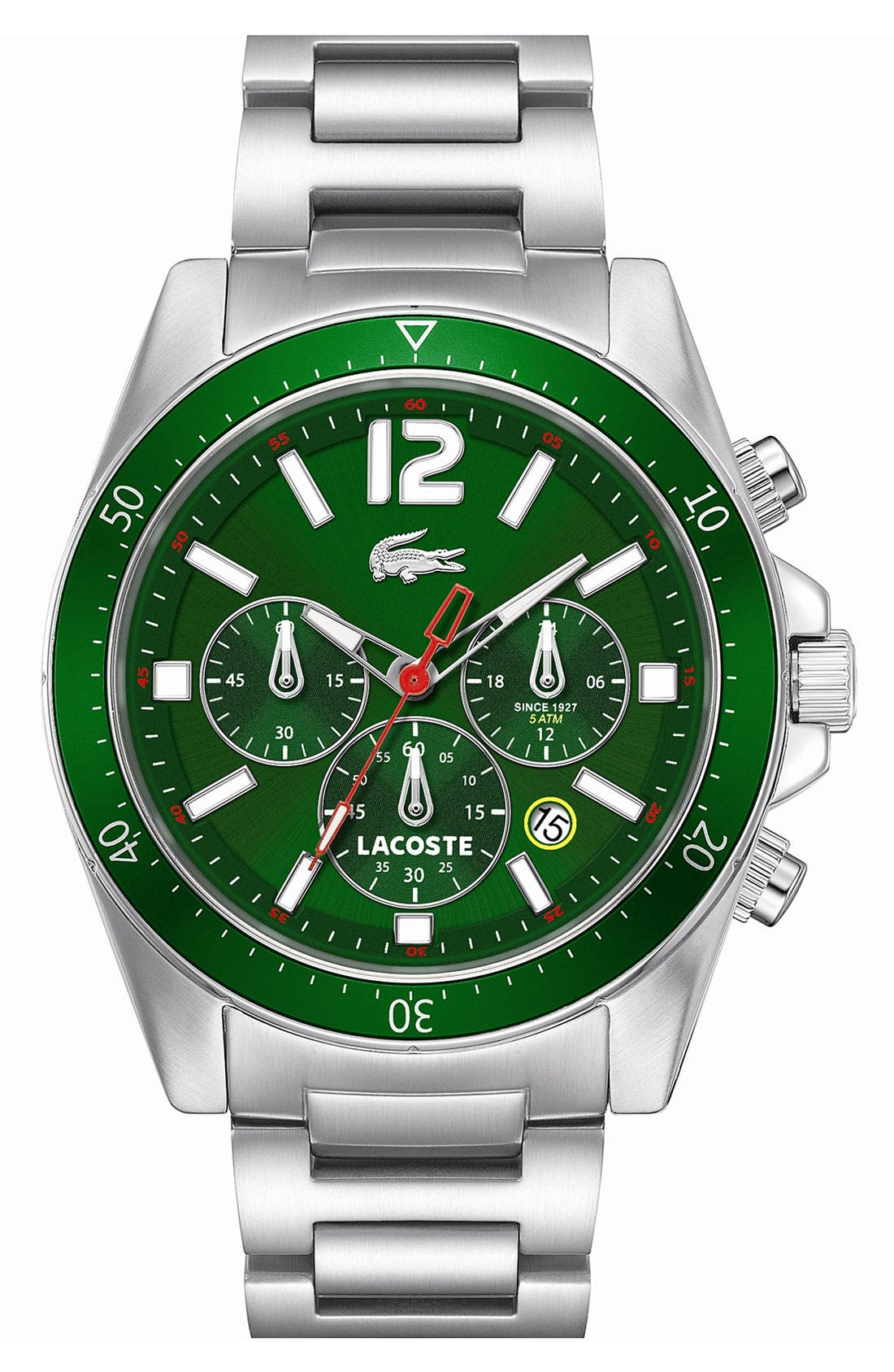 'Seattle' Chronograph Aluminum Bezel Bracelet Watch, 43mm,                             Main thumbnail 1, color,                             040