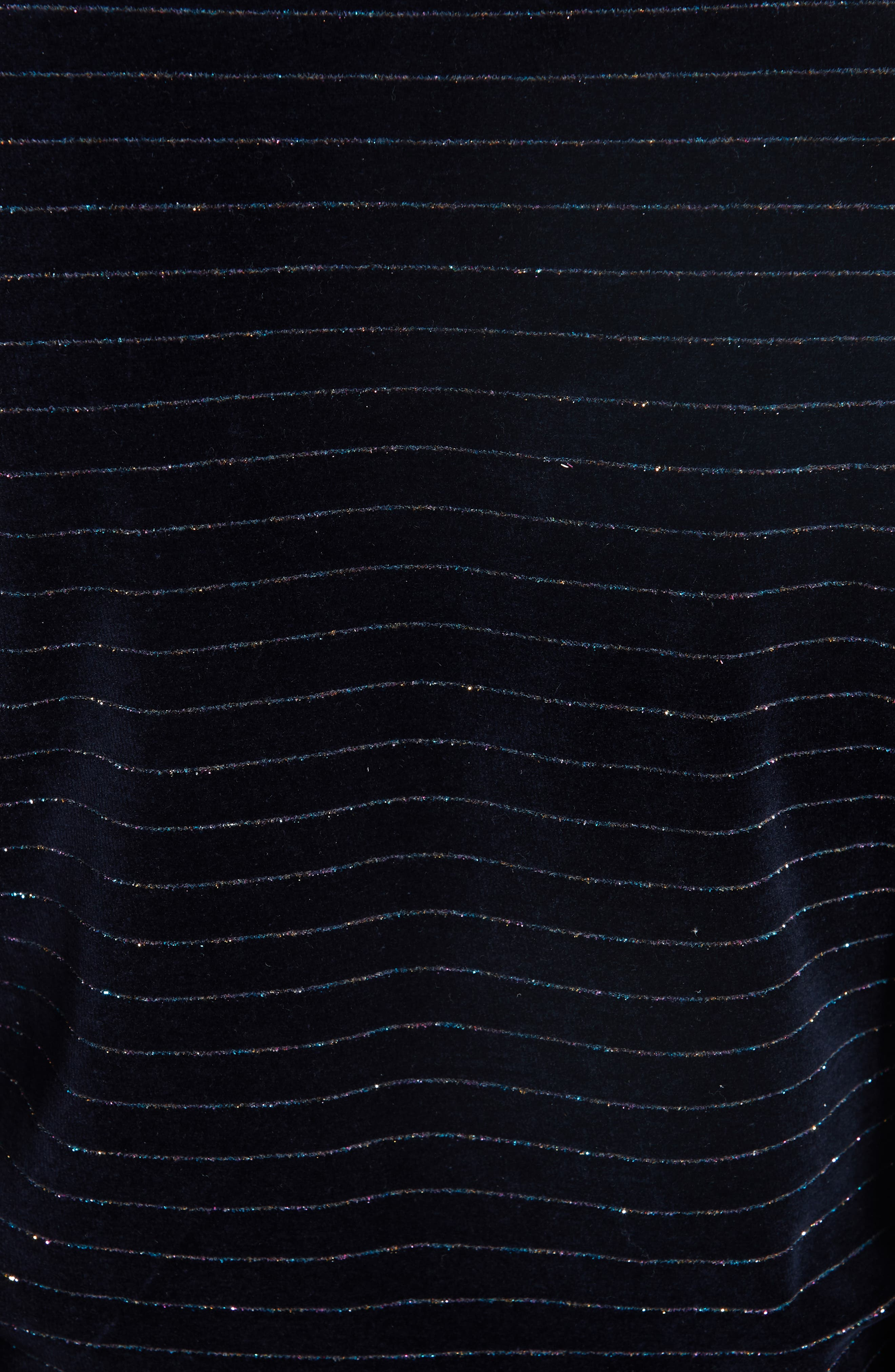 Velvet Jersey Wrap Top,                             Alternate thumbnail 6, color,                             TOTAL ECLIPSE 707