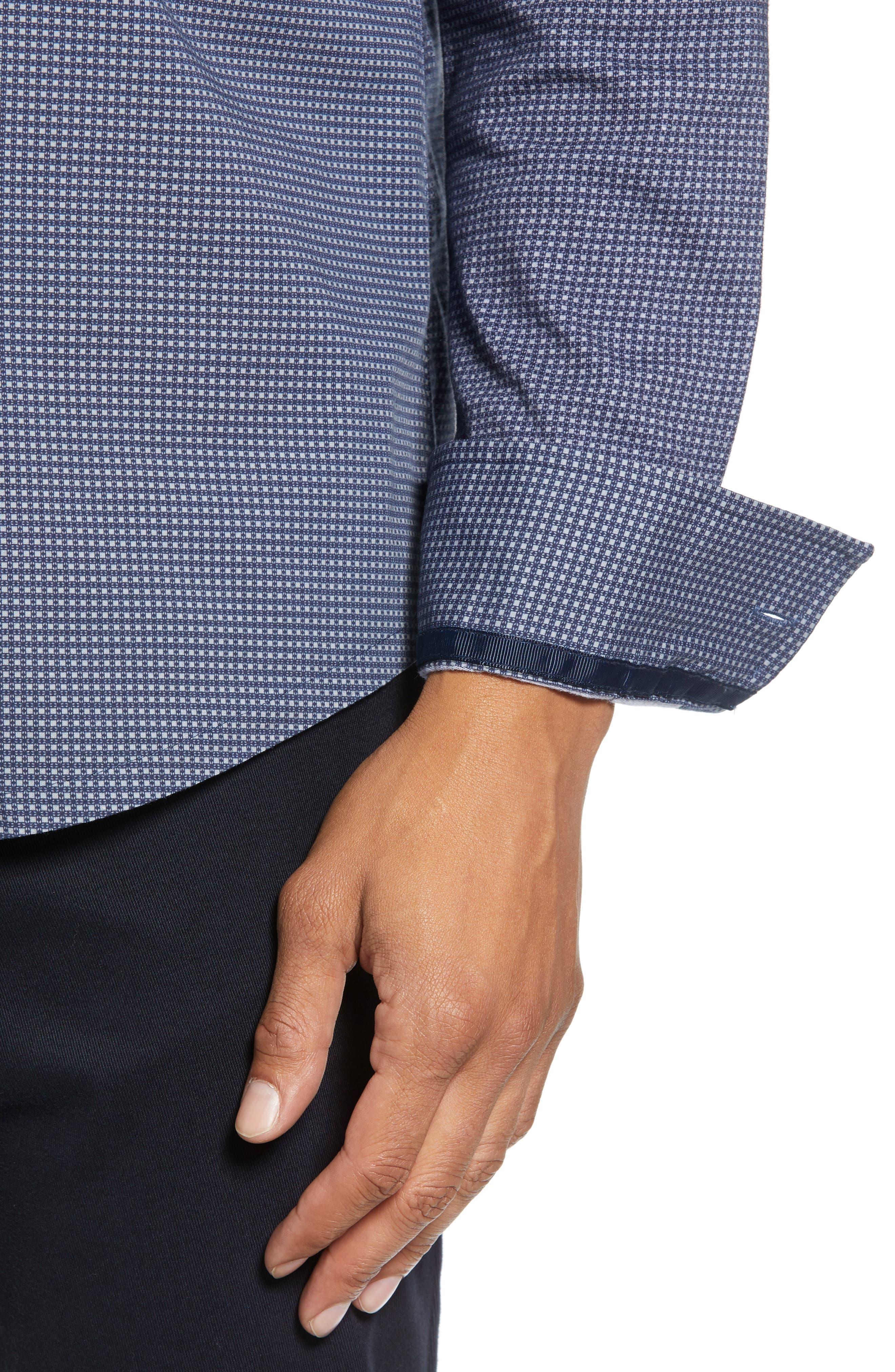 Reworked Slim Fit Grid Print Sport Shirt,                             Alternate thumbnail 2, color,                             410