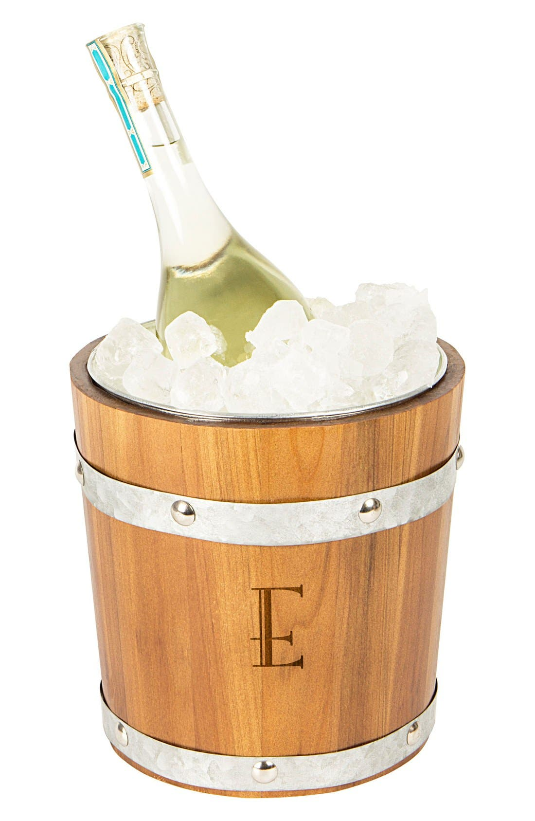 Rustic Monogram Ice Bucket,                             Main thumbnail 6, color,