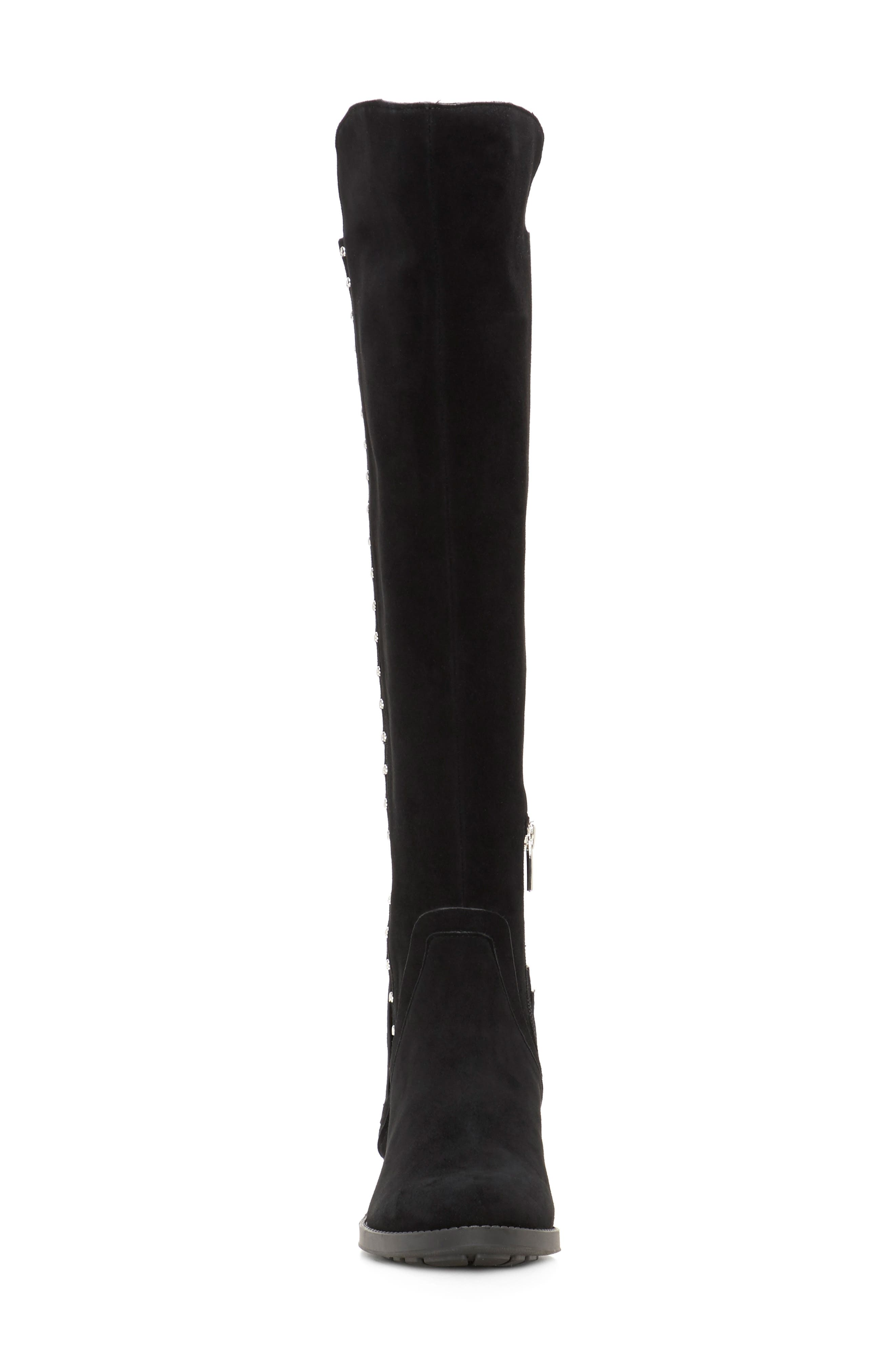 Pardonal Over-the-Knee Boot,                             Alternate thumbnail 4, color,                             BLACK SUEDE