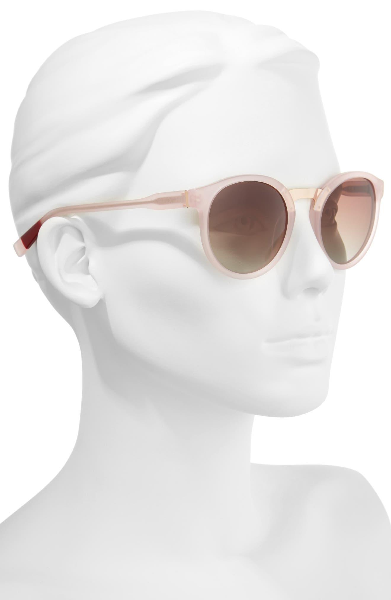 53mm Round Sunglasses,                             Alternate thumbnail 8, color,