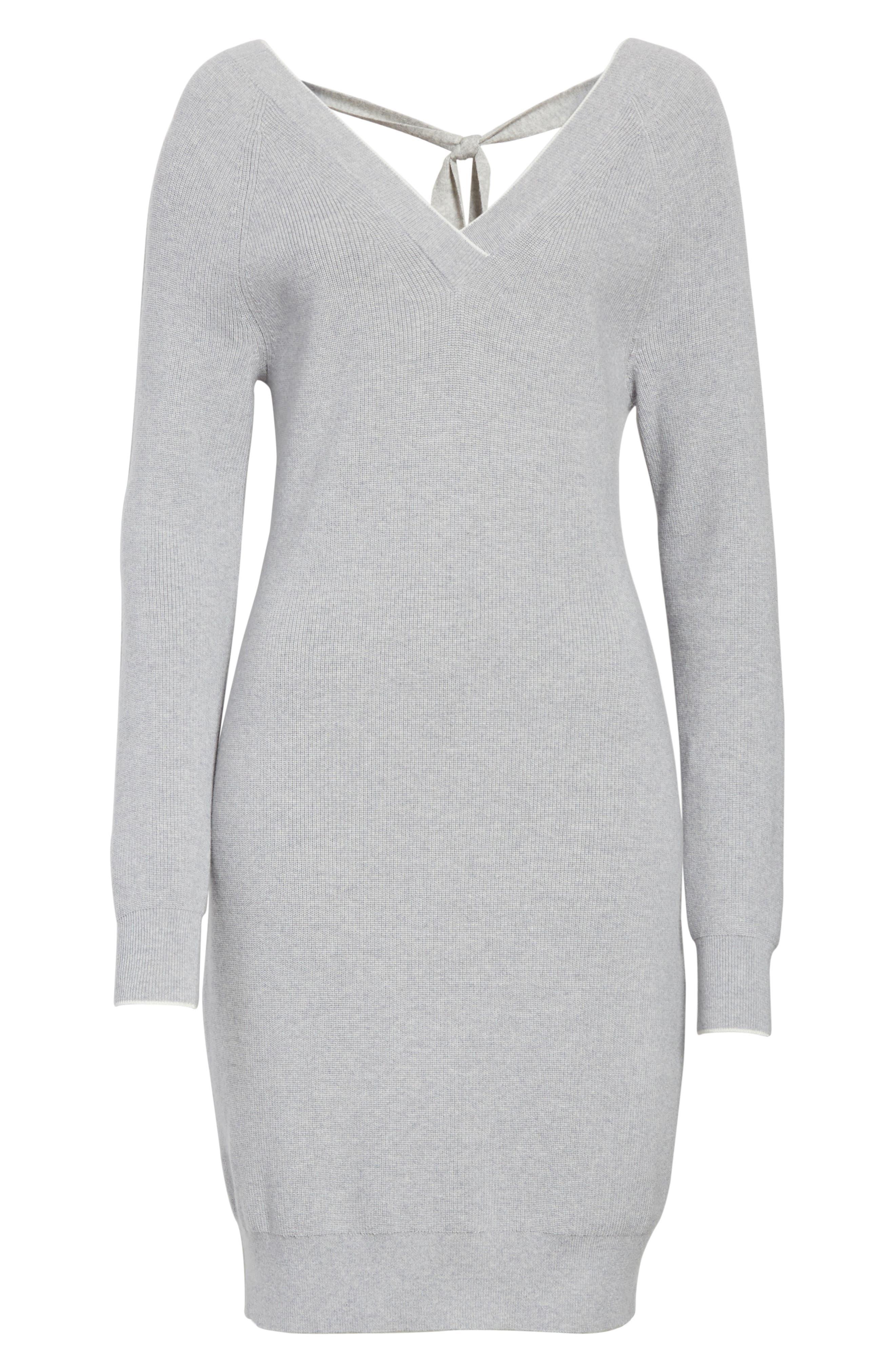 Wool Blend Sweater Dress,                             Alternate thumbnail 6, color,                             023
