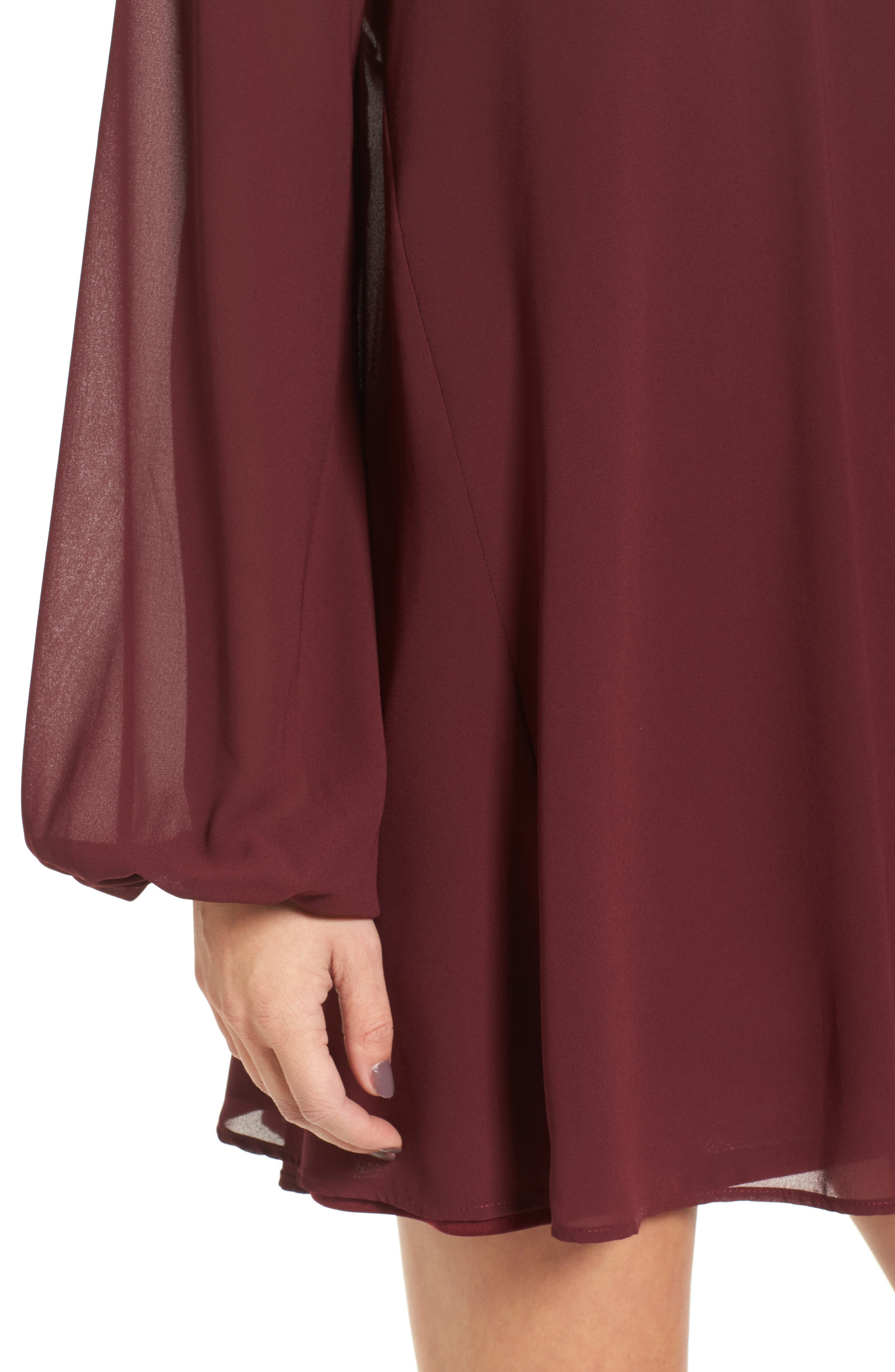 Josephine Choker Dress,                             Alternate thumbnail 4, color,                             930