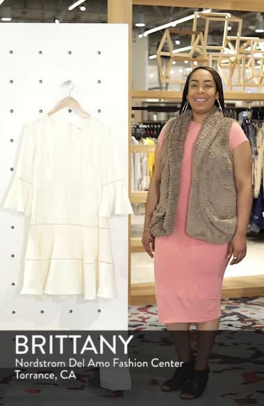 Lace Inset Fit & Flare Dress, sales video thumbnail