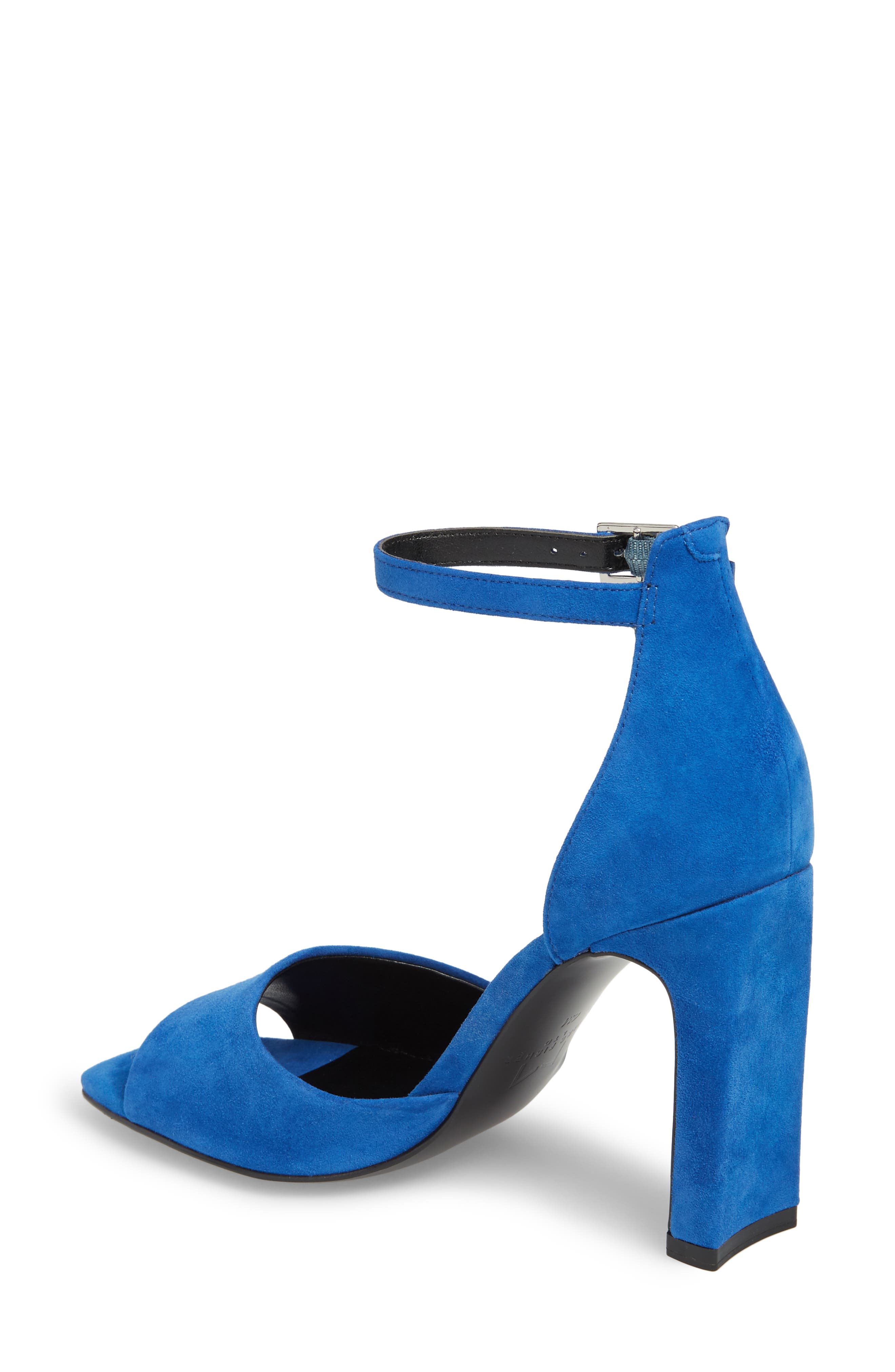 Harlin Ankle Strap Sandal,                             Alternate thumbnail 2, color,                             BLUE SUEDE
