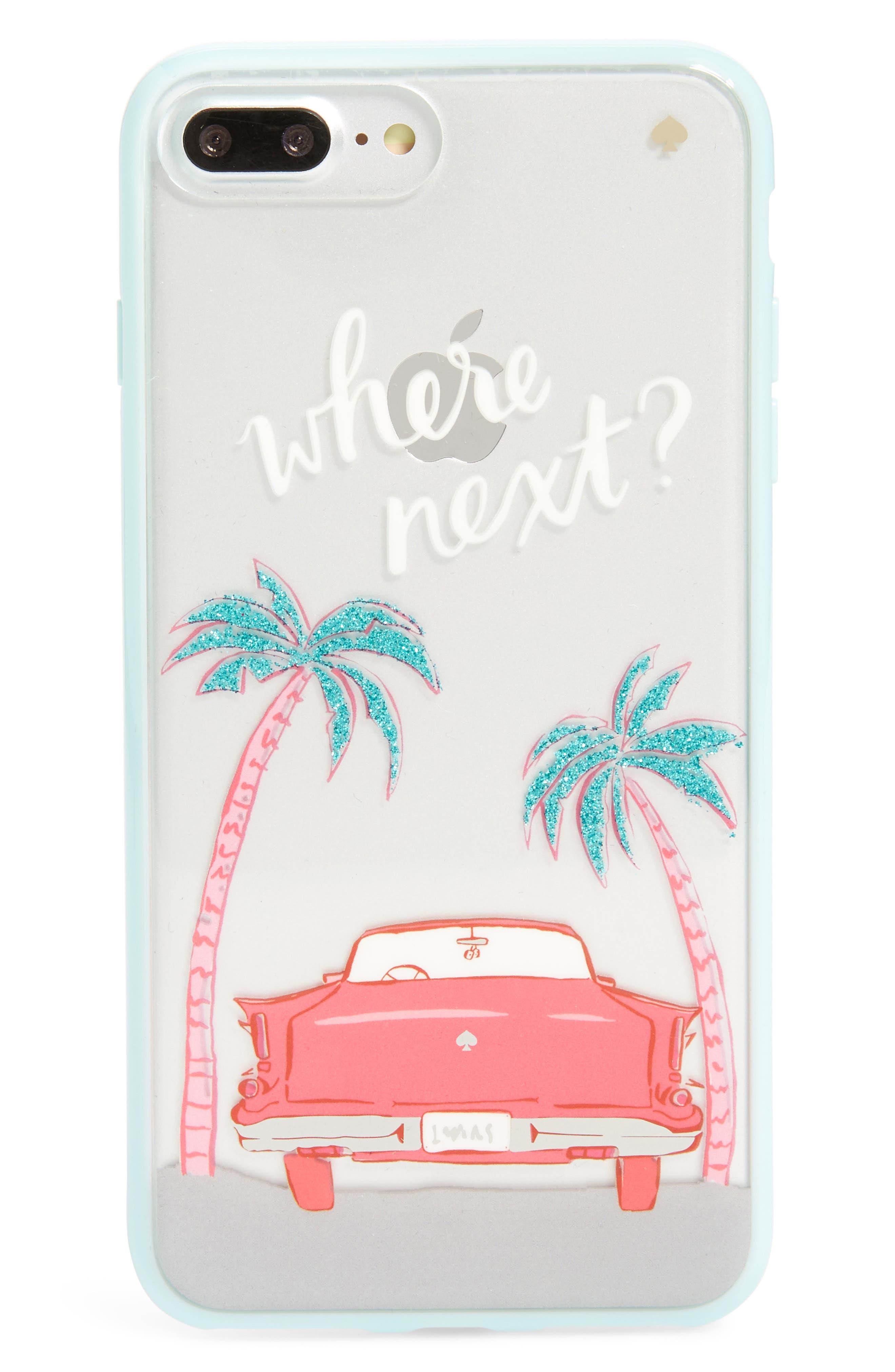 KATE SPADE NEW YORK,                             where next iPhone 7/8 & 7/8 Plus case,                             Main thumbnail 1, color,                             650