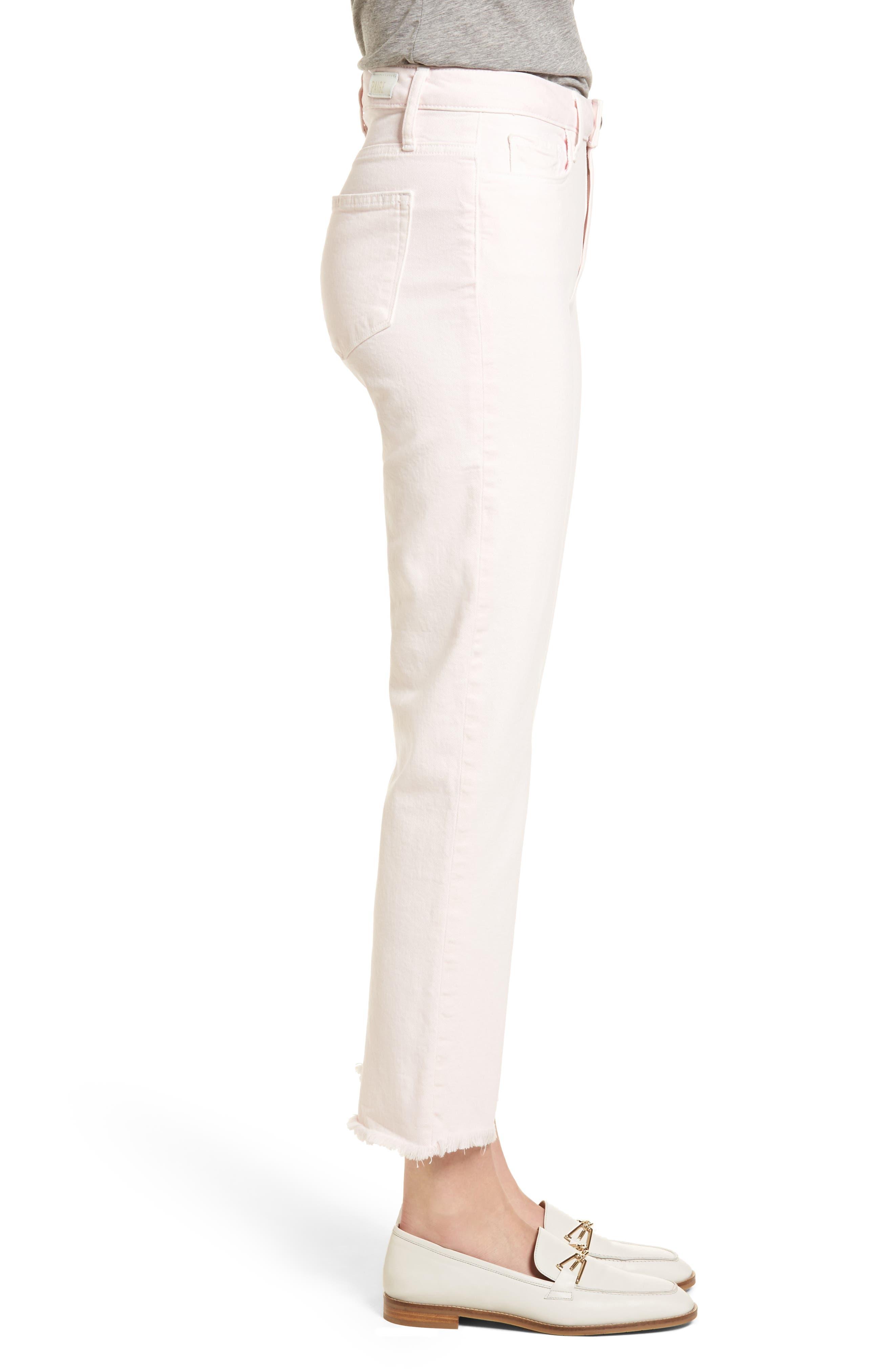Hoxton High Waist Ankle Straight Leg Jeans,                             Alternate thumbnail 3, color,                             650