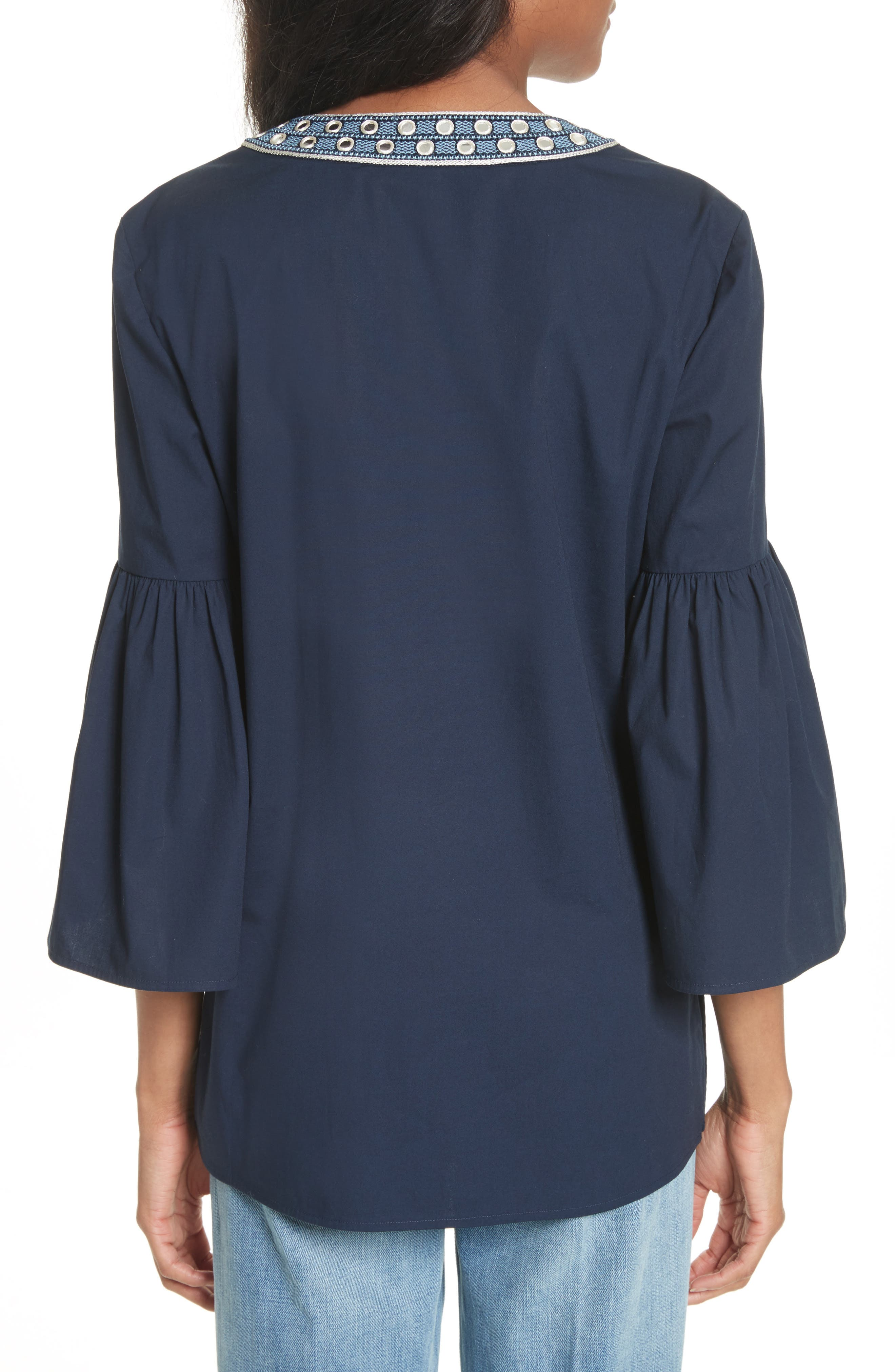 Ariana Bell Sleeve Tunic,                             Alternate thumbnail 2, color,
