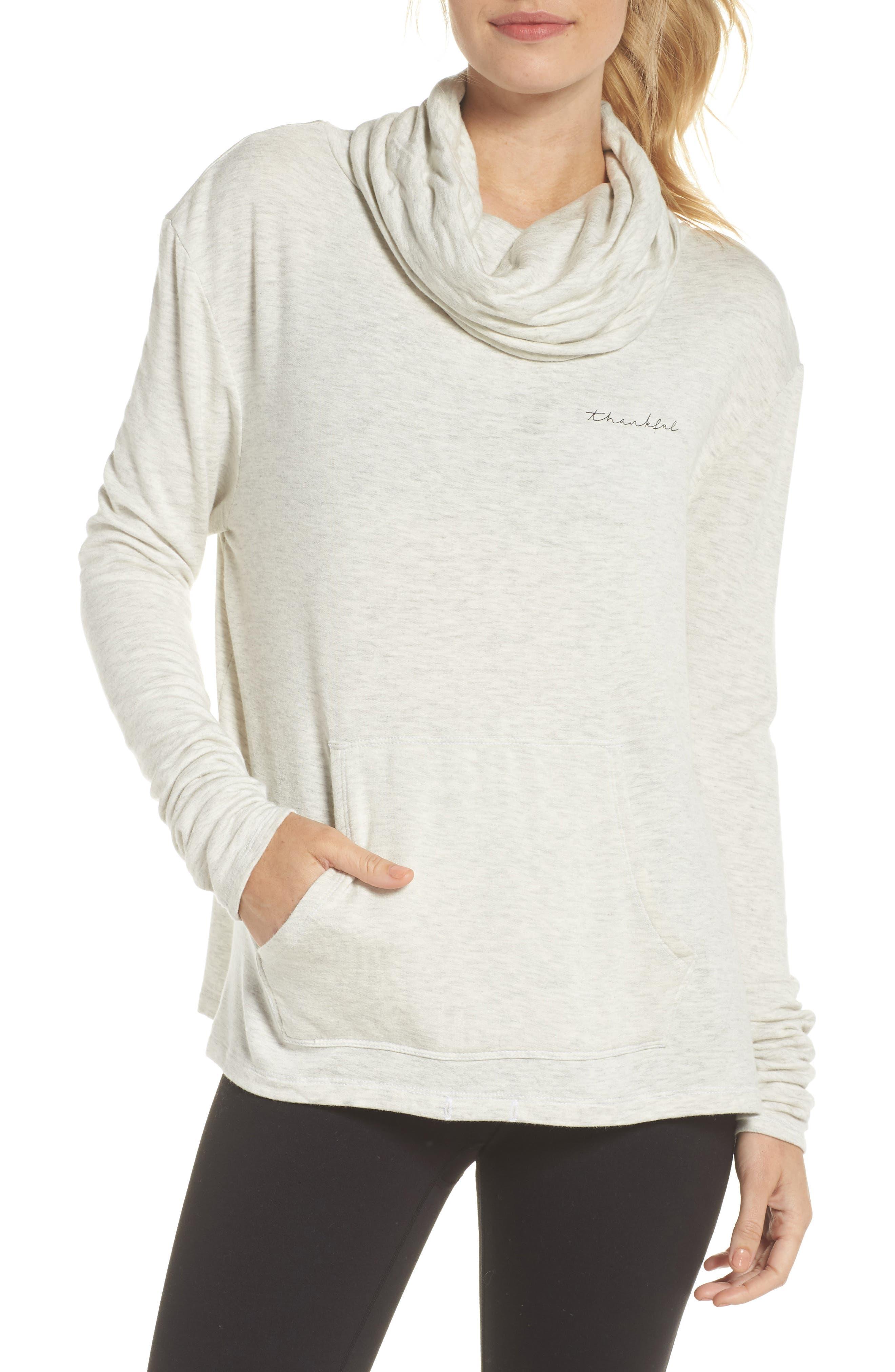 Shira Thankful Cowl Neck Pullover,                         Main,                         color, NATURAL