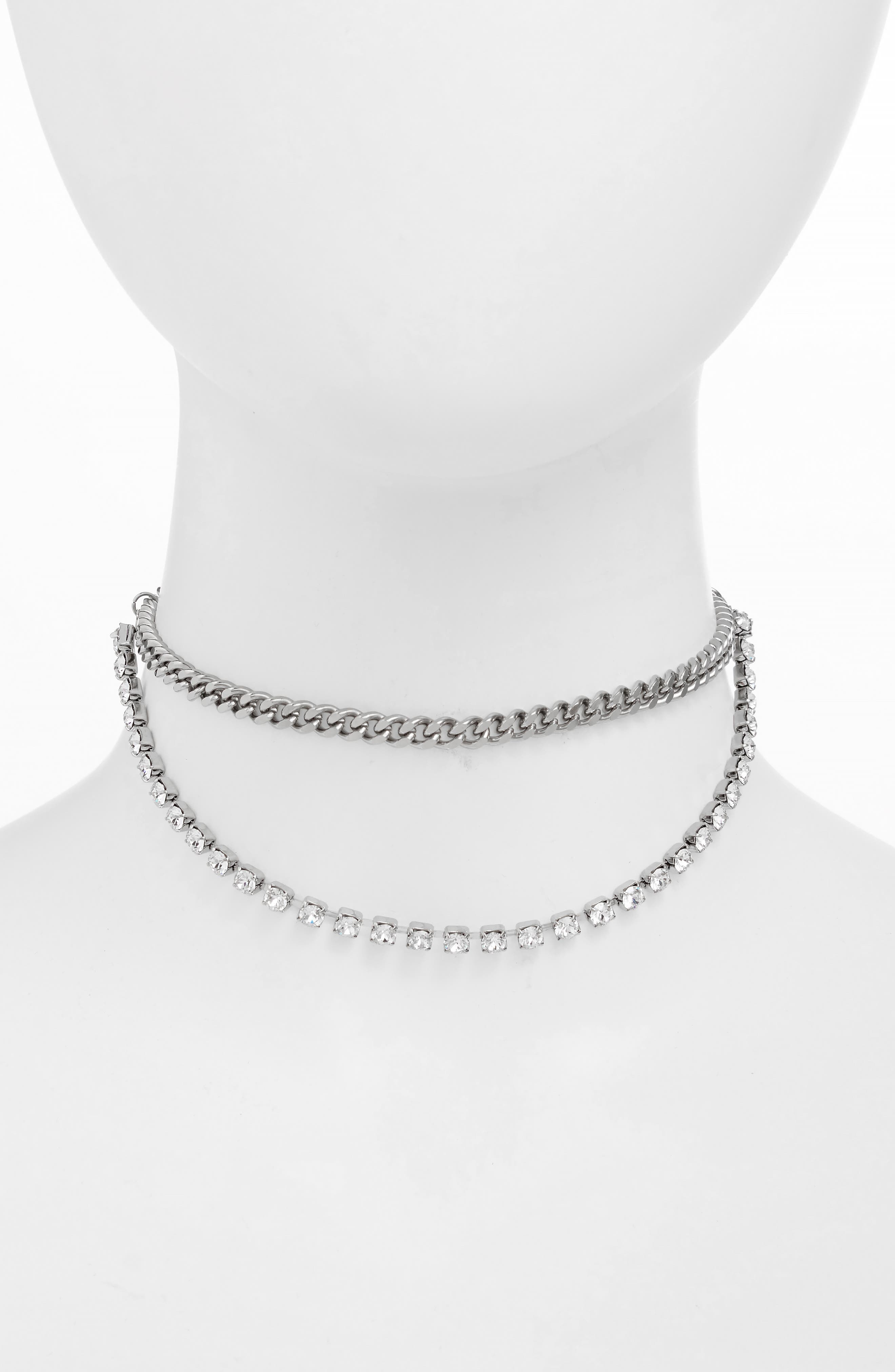 JUSTINE CLENQUET Betty Layered Necklace in Black