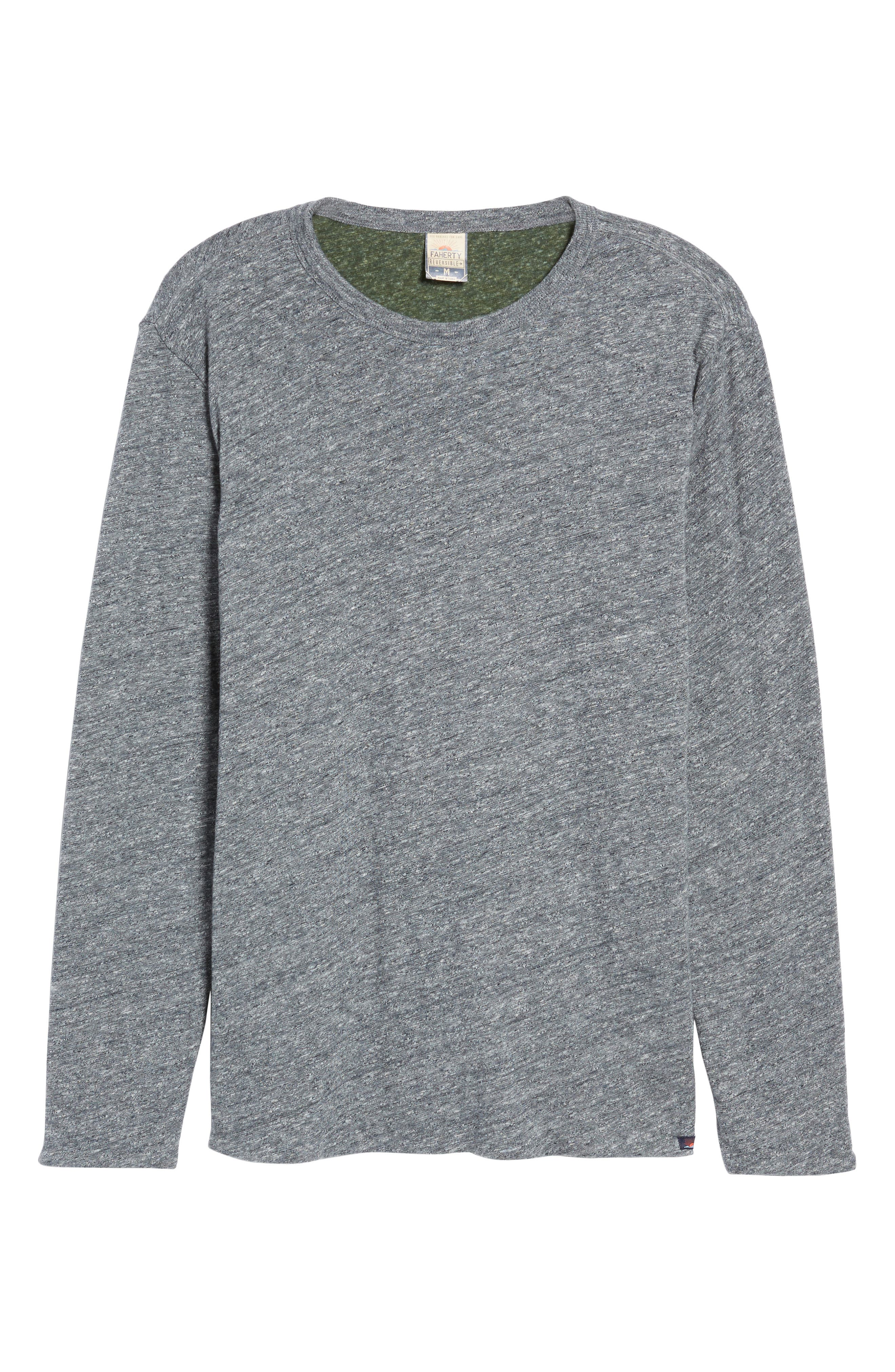 Reversible Long Sleeve Crewneck T-Shirt,                             Alternate thumbnail 6, color,                             038