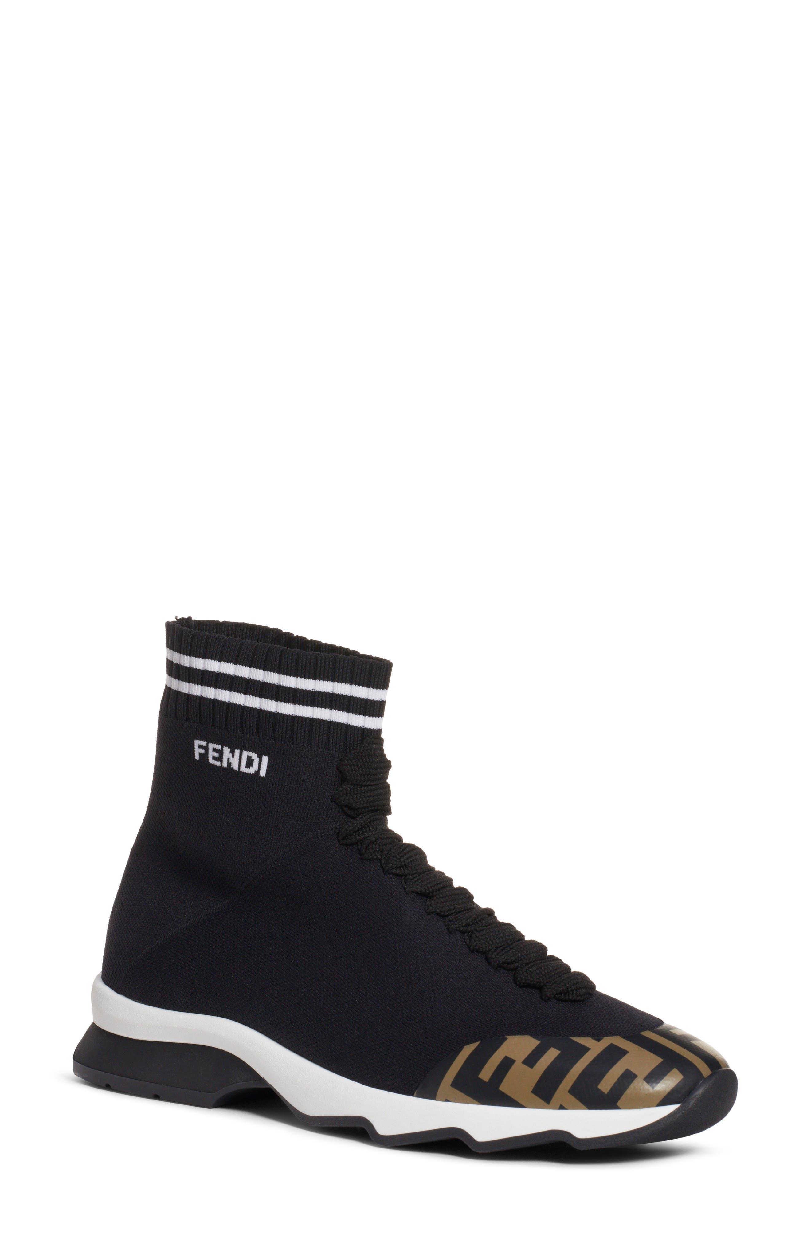 Rockotop Zucca Sock Sneaker by Fendi