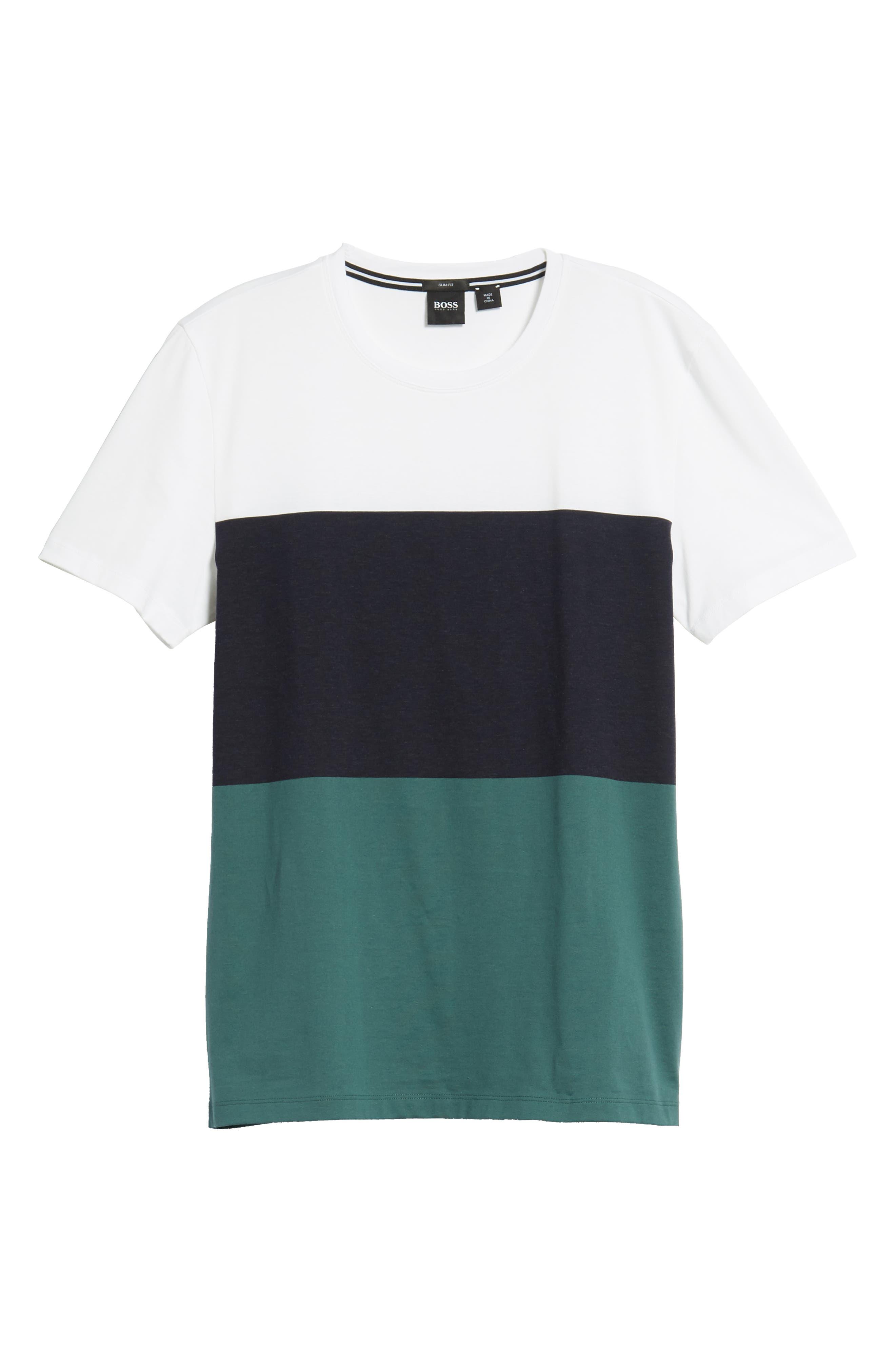 Tessler Colorblock Slim Fit T-Shirt,                             Alternate thumbnail 6, color,                             BLUE