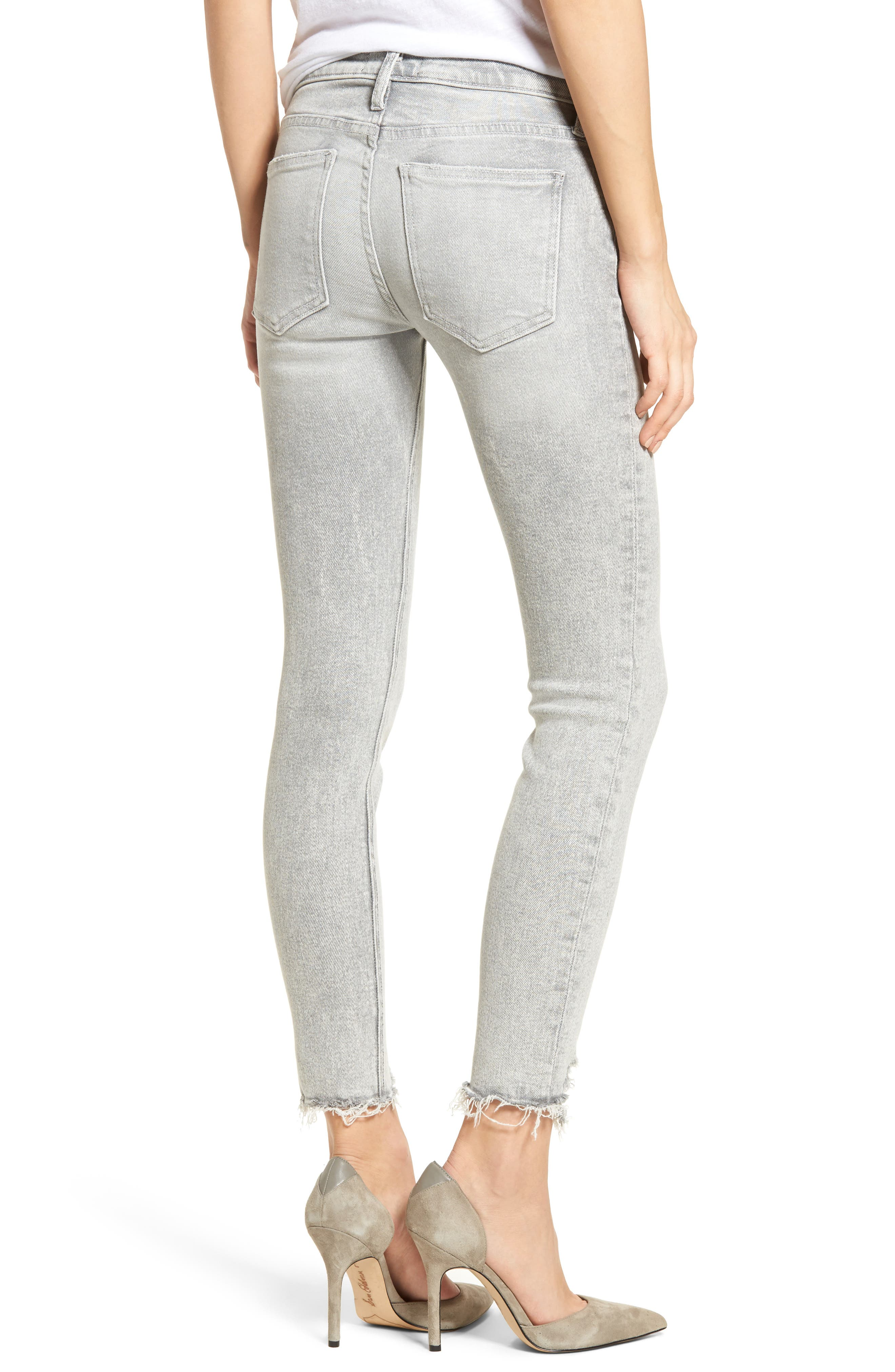 The Stiletto High Waist Ankle Skinny Jeans,                             Alternate thumbnail 2, color,