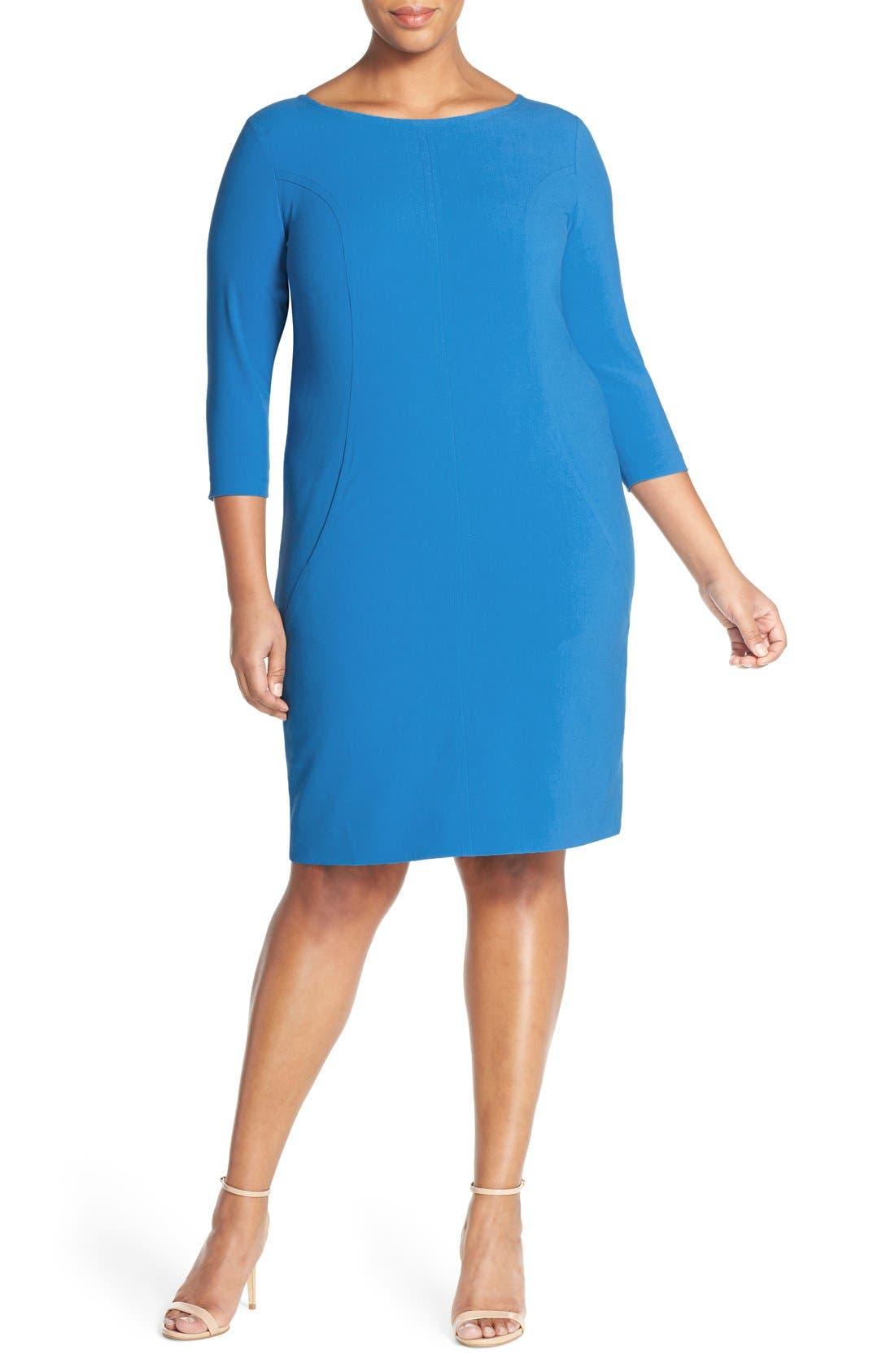 by Arthur S. Levine Seamed A-Line Dress,                             Alternate thumbnail 41, color,