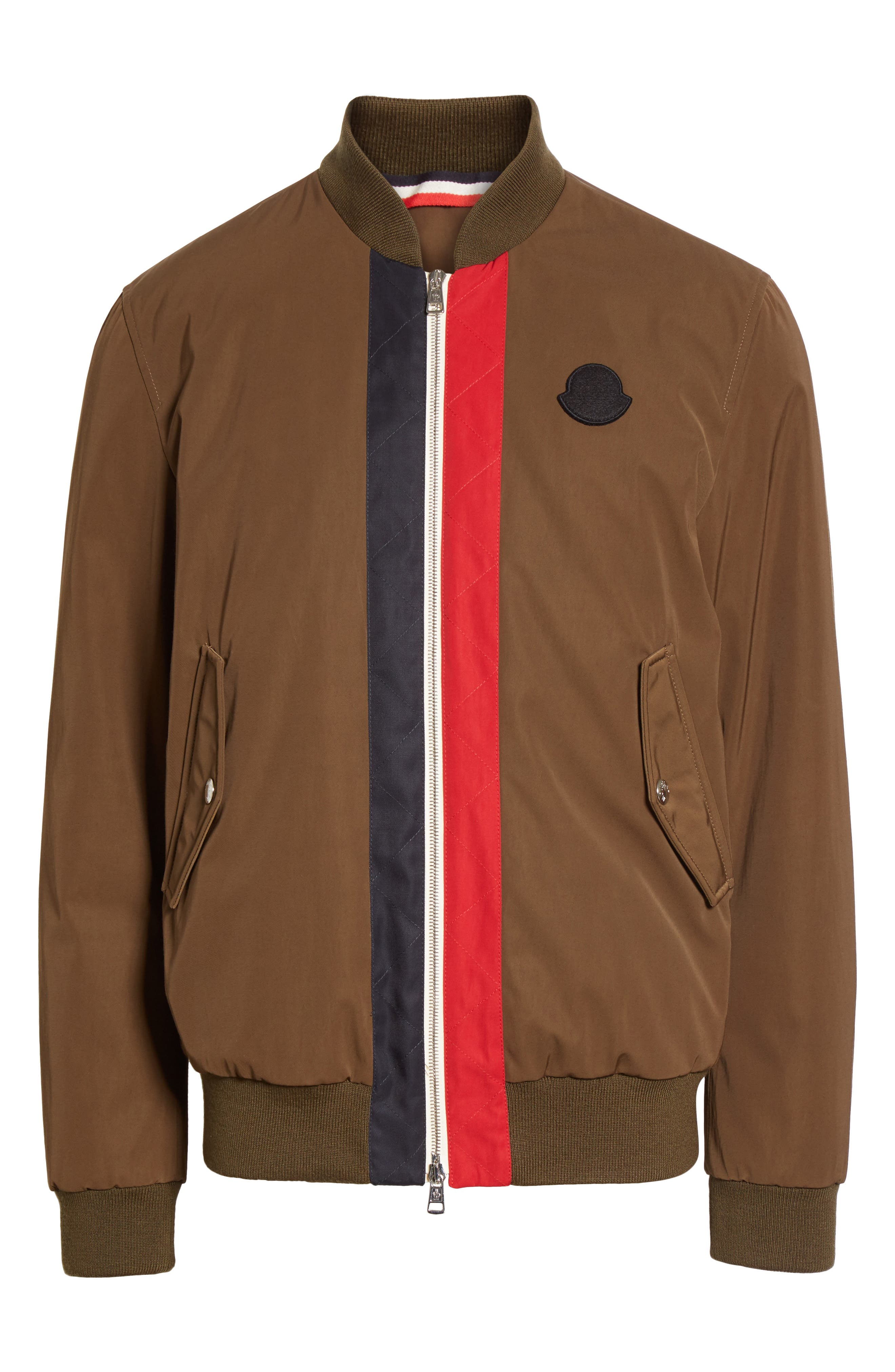 Tacna Stripe Bomber Jacket,                             Alternate thumbnail 5, color,                             300