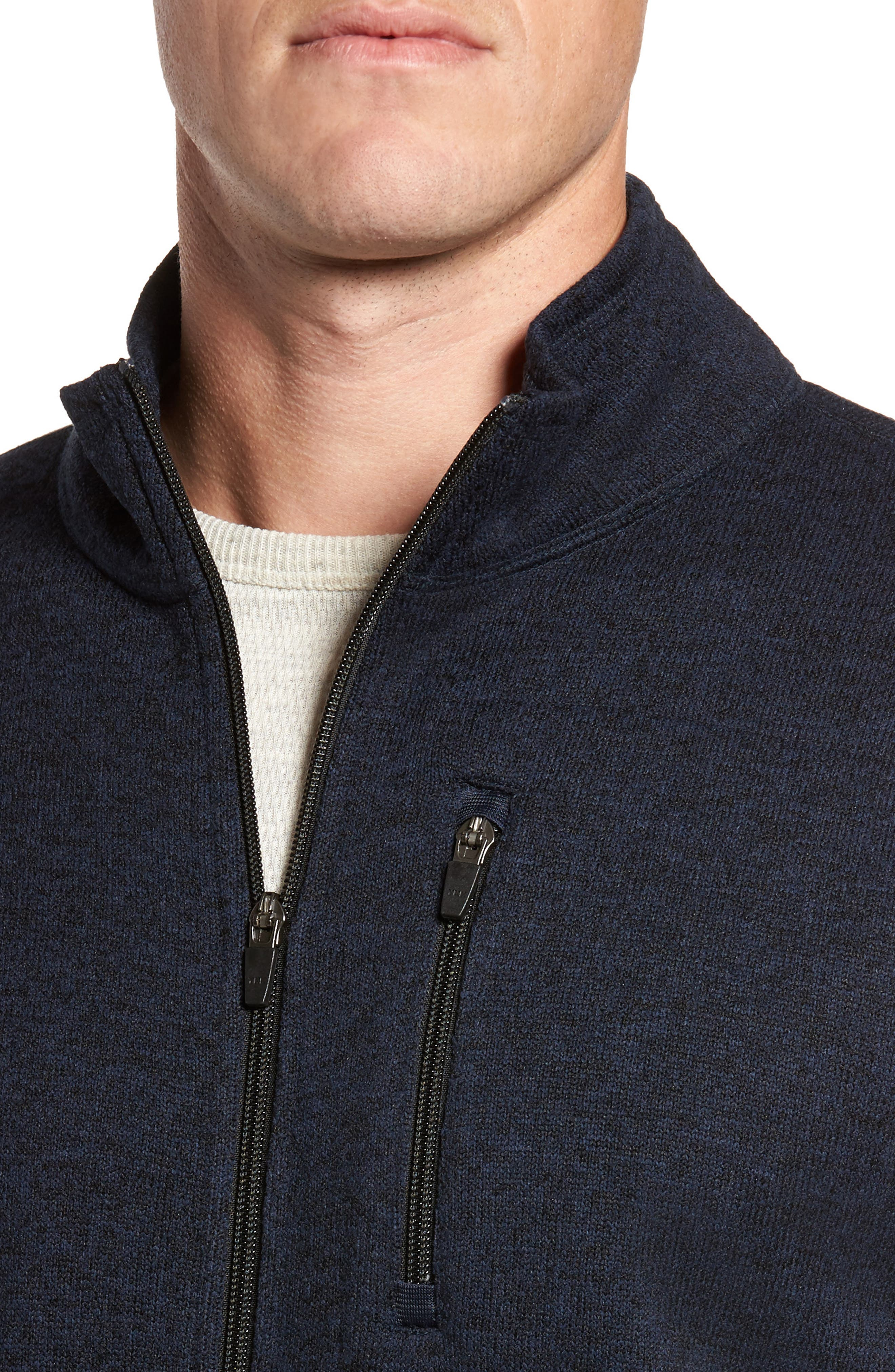 Sweater Knit Fleece Zip Front Jacket,                             Alternate thumbnail 12, color,