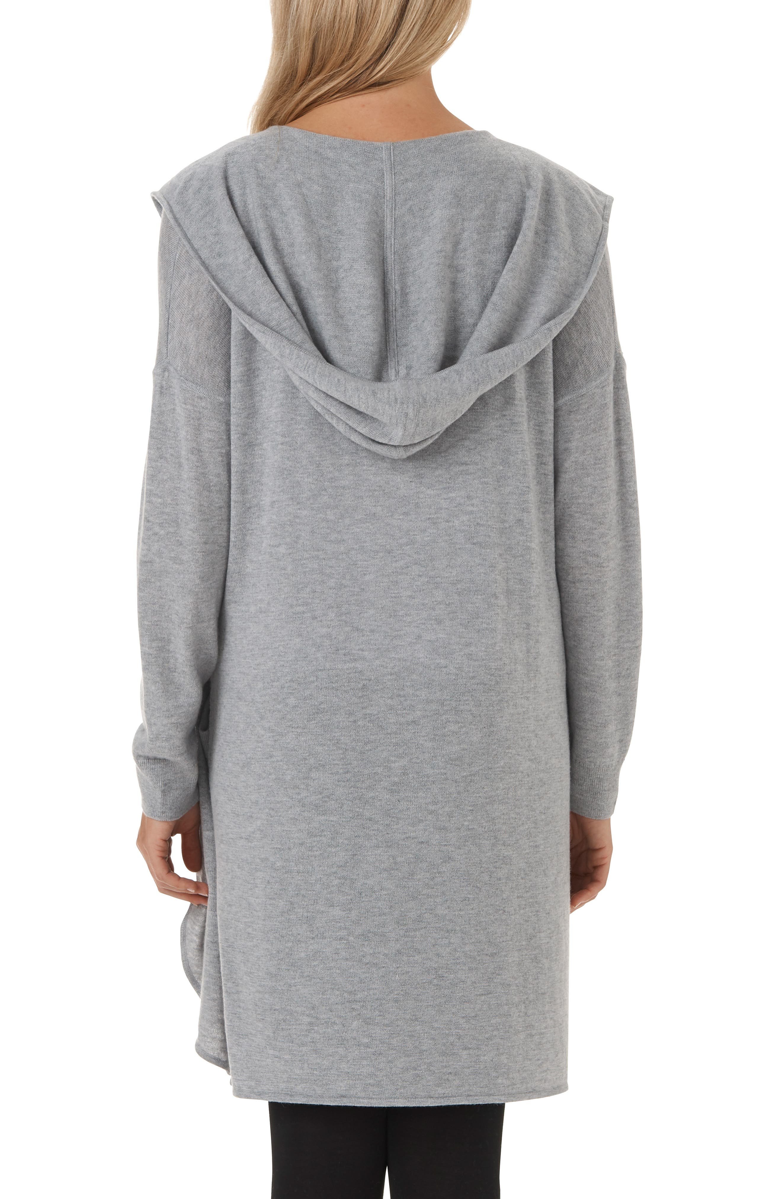 Wool & Cashmere Hooded Cardigan,                             Alternate thumbnail 2, color,                             MGM
