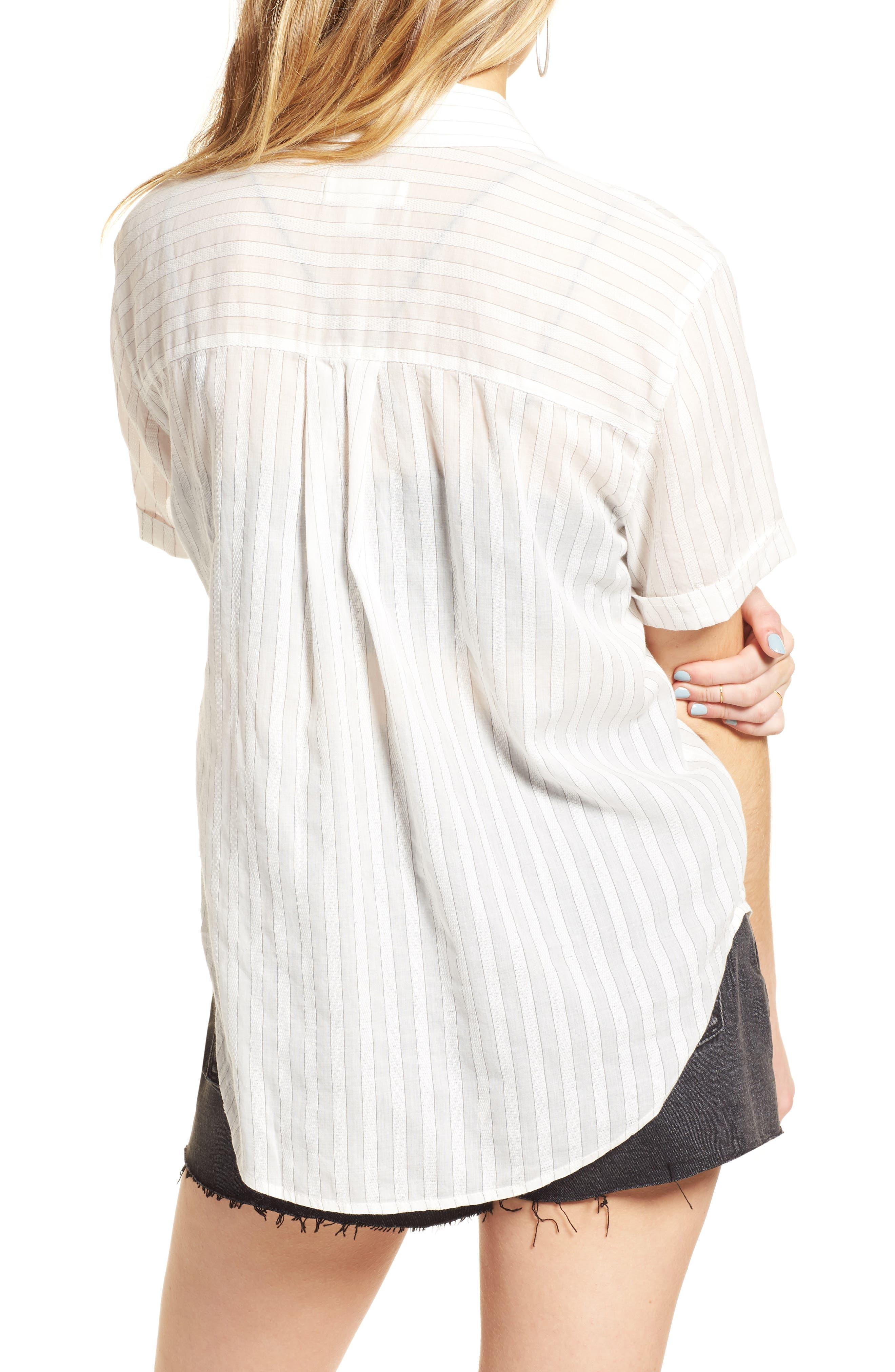 Stripe Shirt,                             Alternate thumbnail 2, color,                             100