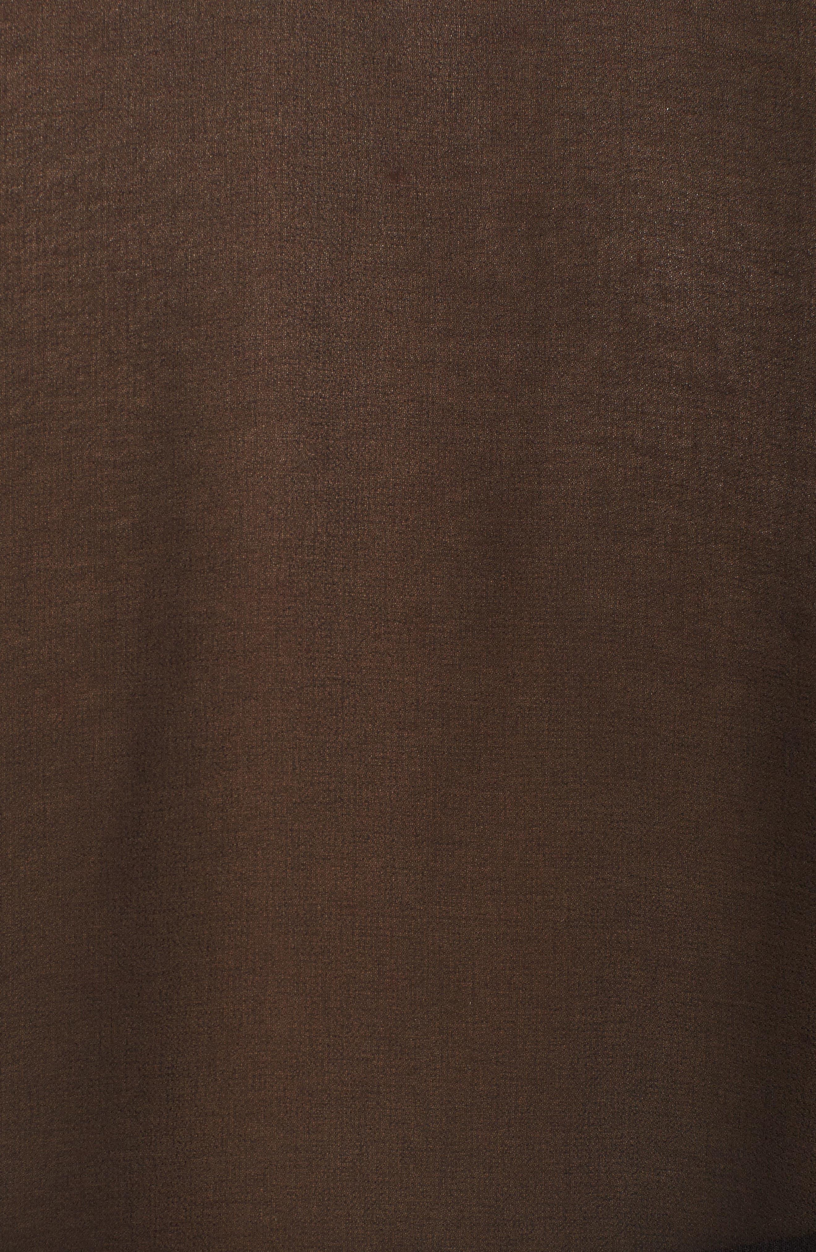 Chiffon Cover-Up Kimono,                             Alternate thumbnail 5, color,                             BLACK
