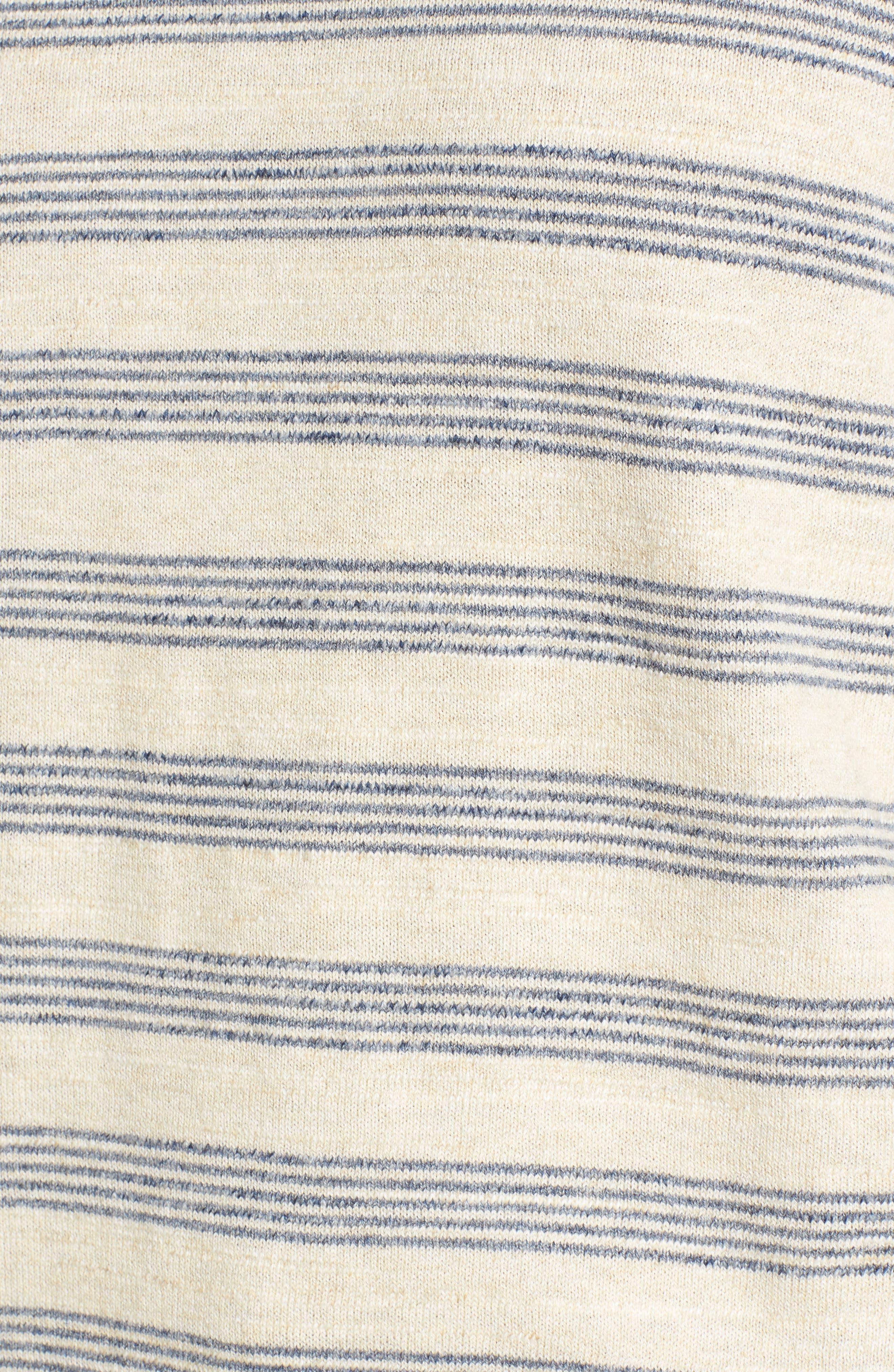 Stripe Cotton Sweater,                             Alternate thumbnail 5, color,                             900